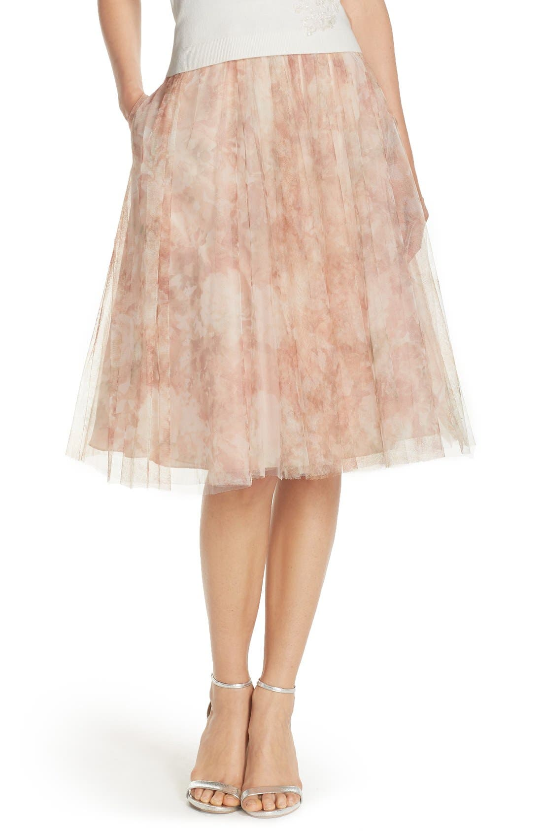 JENNY YOO Lucy Print Tulle Skirt