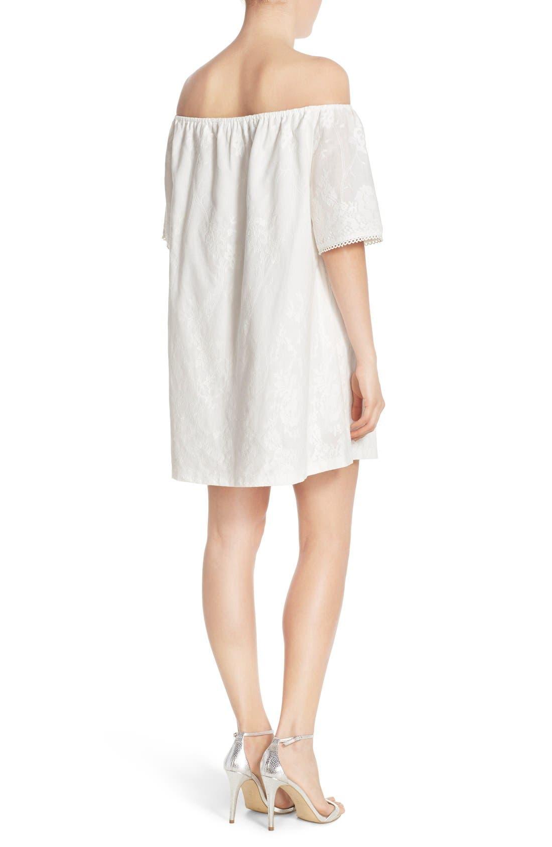 Alternate Image 2  - BB Dakota 'Manda' Off the Shoulder Cotton Shift Dress