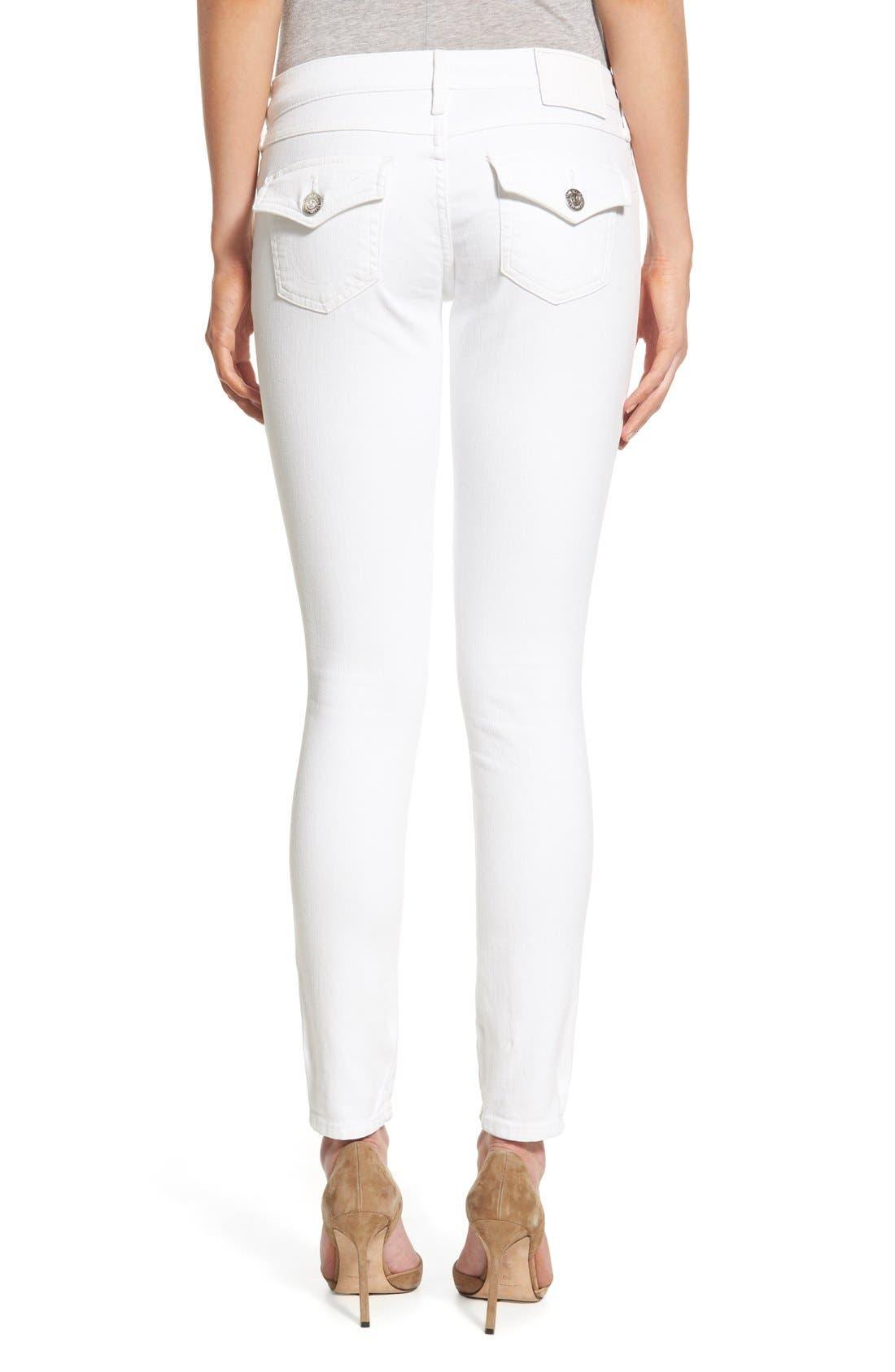 Alternate Image 2  - True Religion Brand Jeans 'Casey' Flap Pocket Skinny Jeans (Optic White)