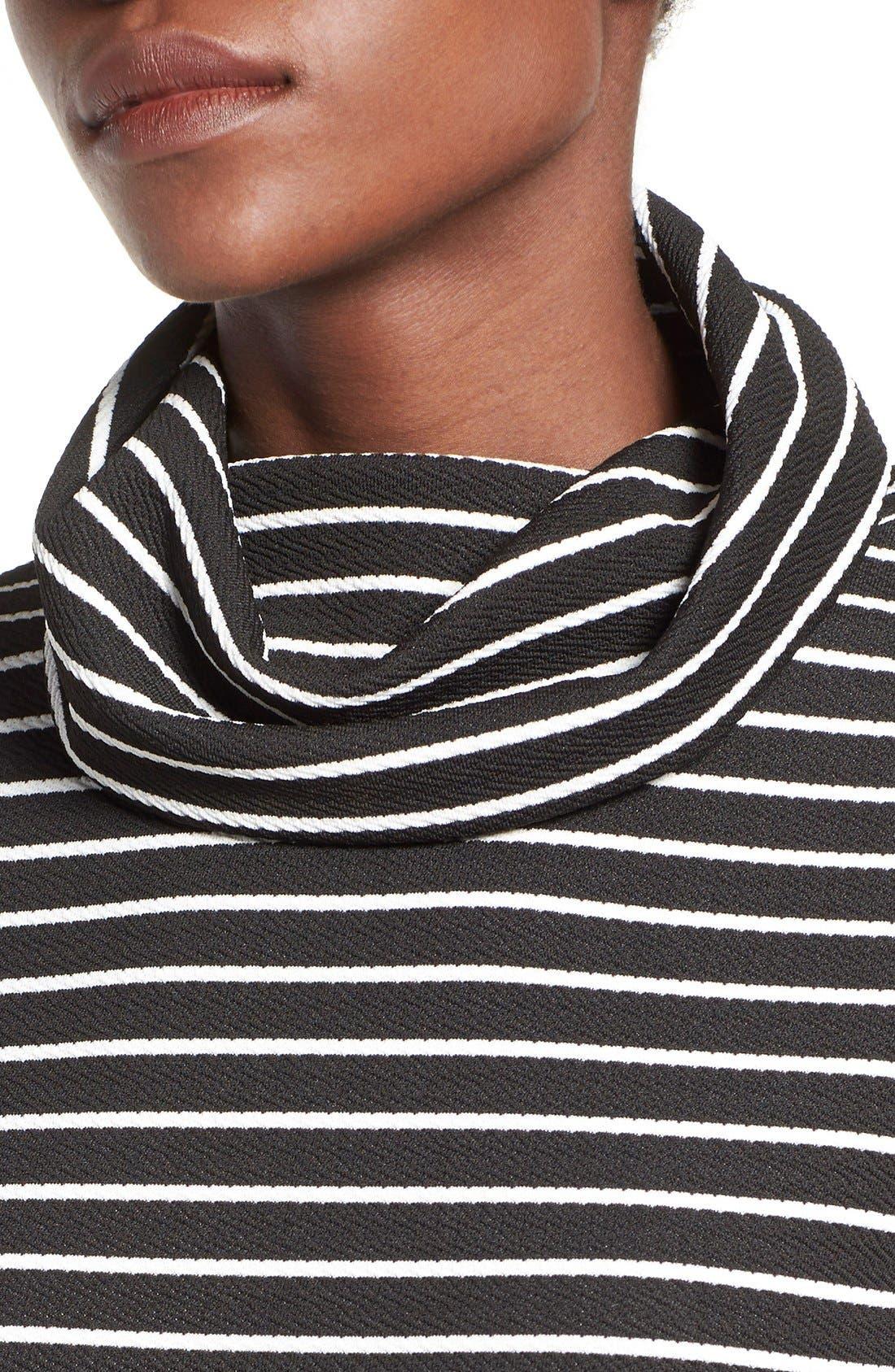 Alternate Image 4  - Missguided Stripe Turtleneck Body-Con Dress