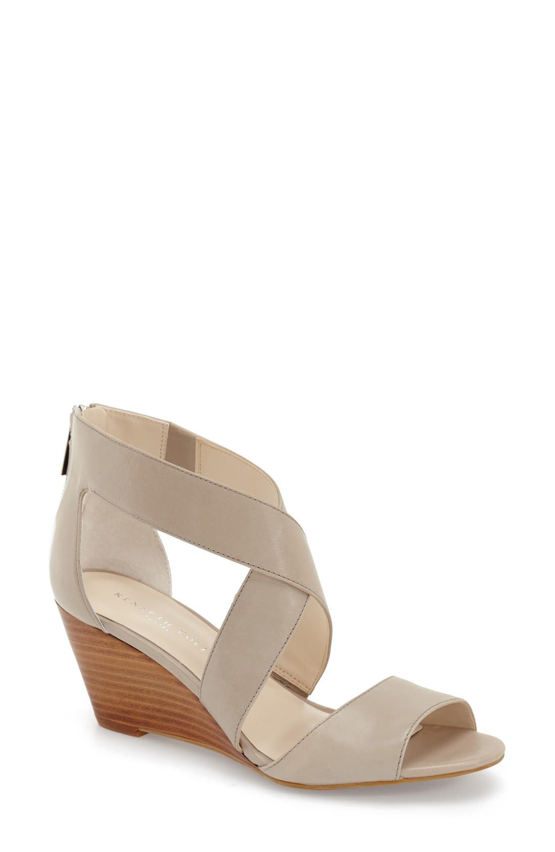Alternate Image 1 Selected - Kenneth Cole New York 'Drina' Wedge Sandal (Women)