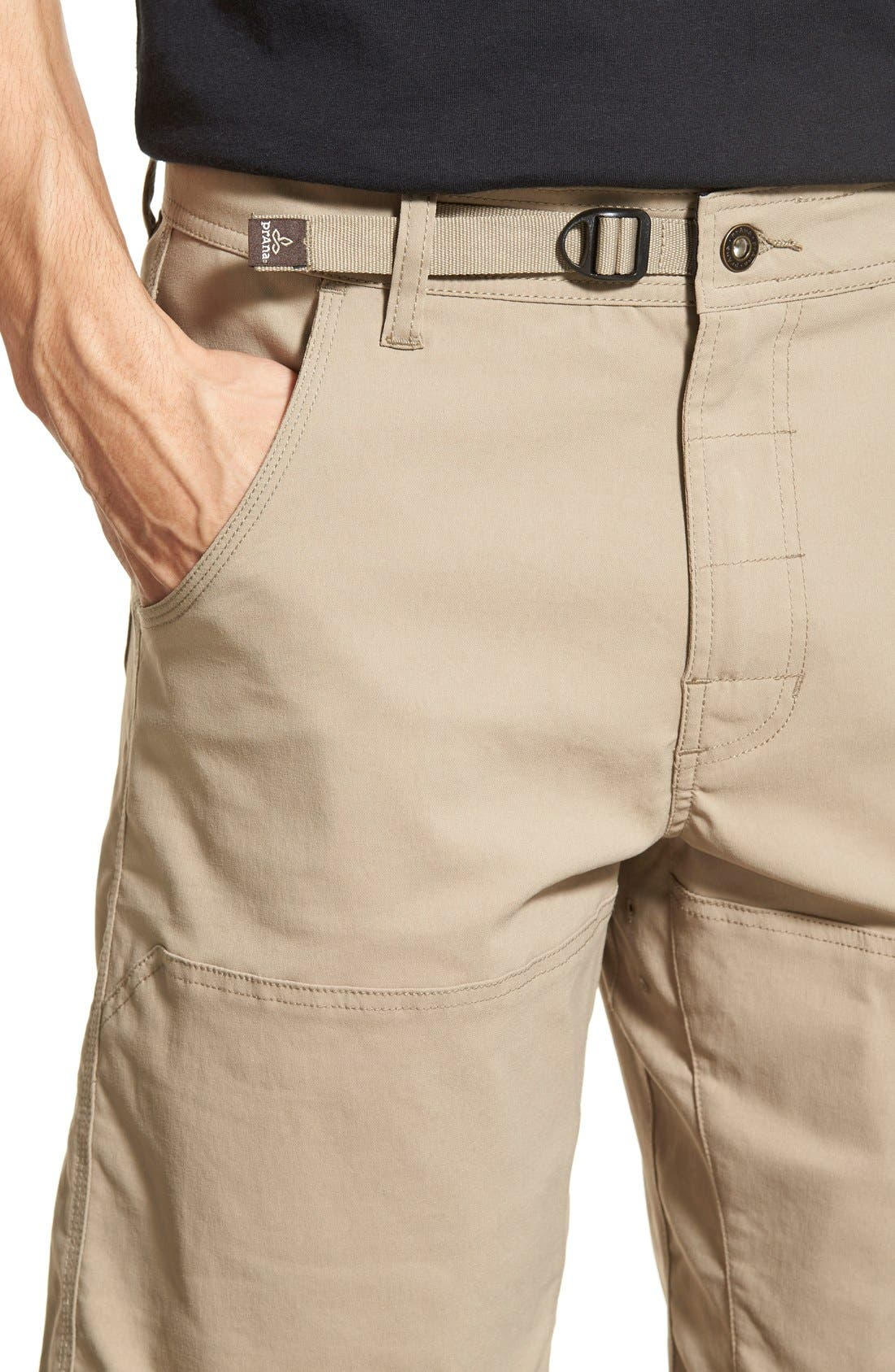 Zion Stretch Shorts,                             Alternate thumbnail 4, color,                             Dark Khaki