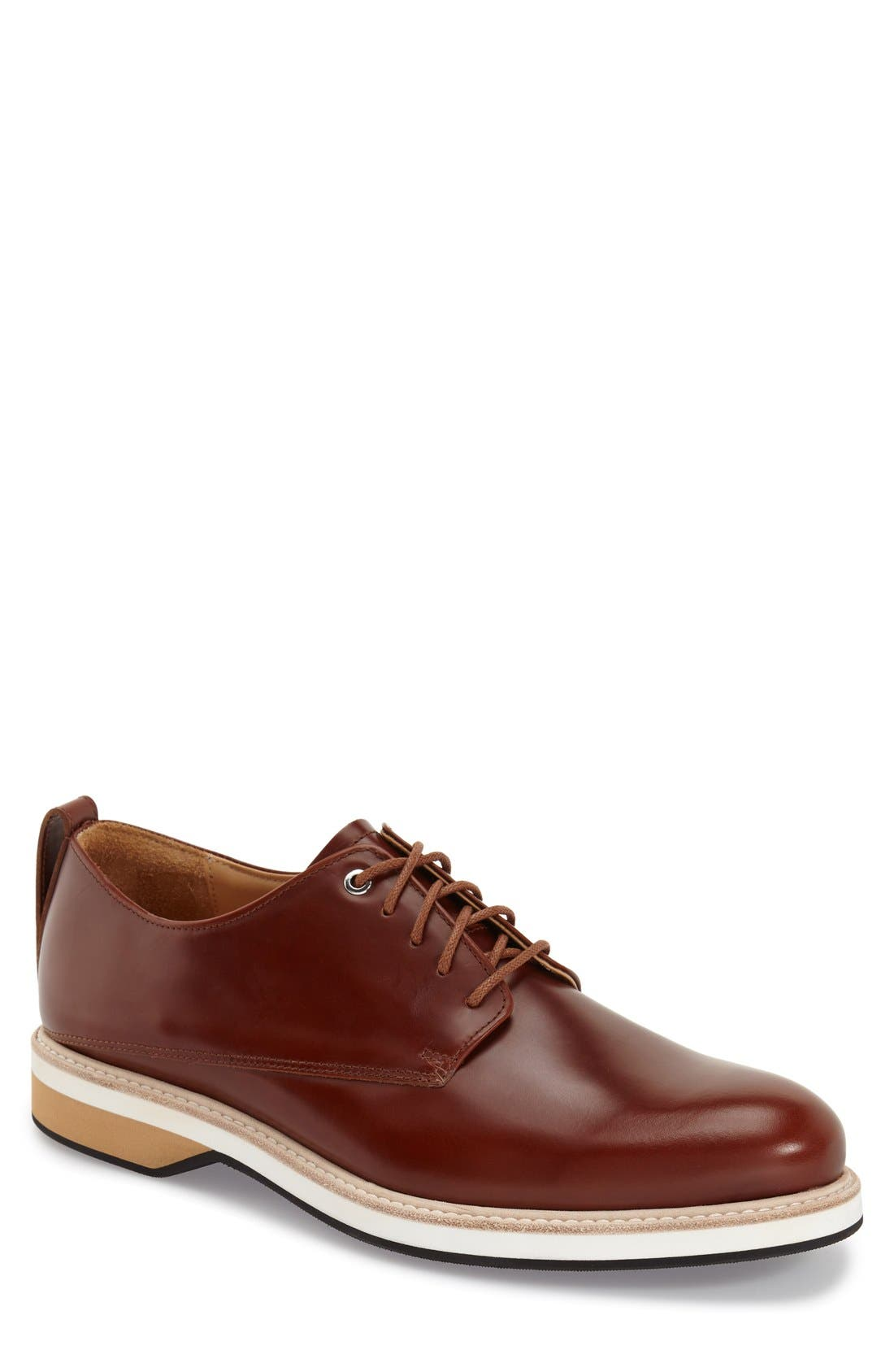 'Montoro' Derby,                             Main thumbnail 1, color,                             Cognac Leather