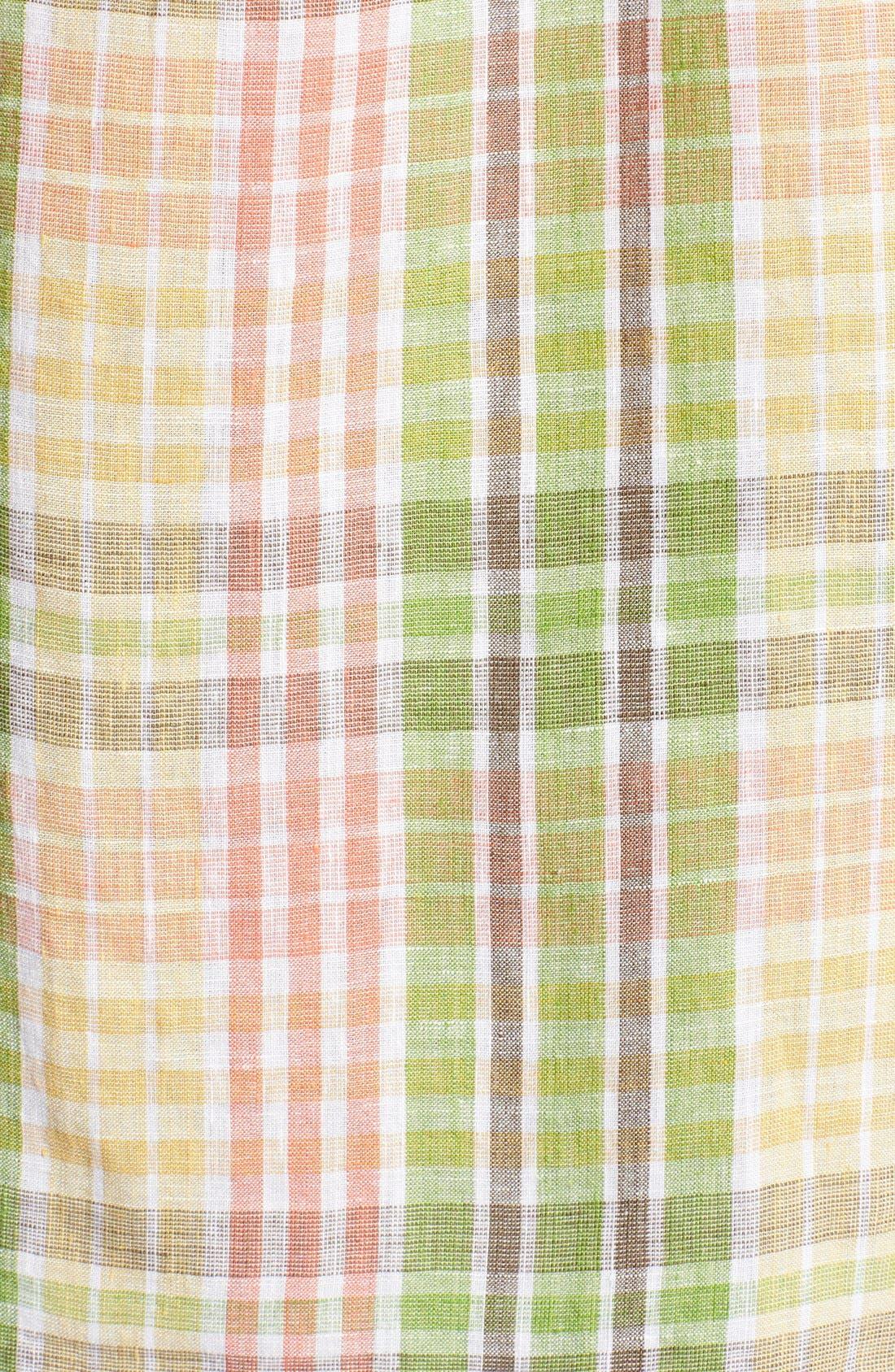 'Sun Direction' Regular Fit Plaid Sport Shirt,                             Alternate thumbnail 5, color,                             Villa Yellow