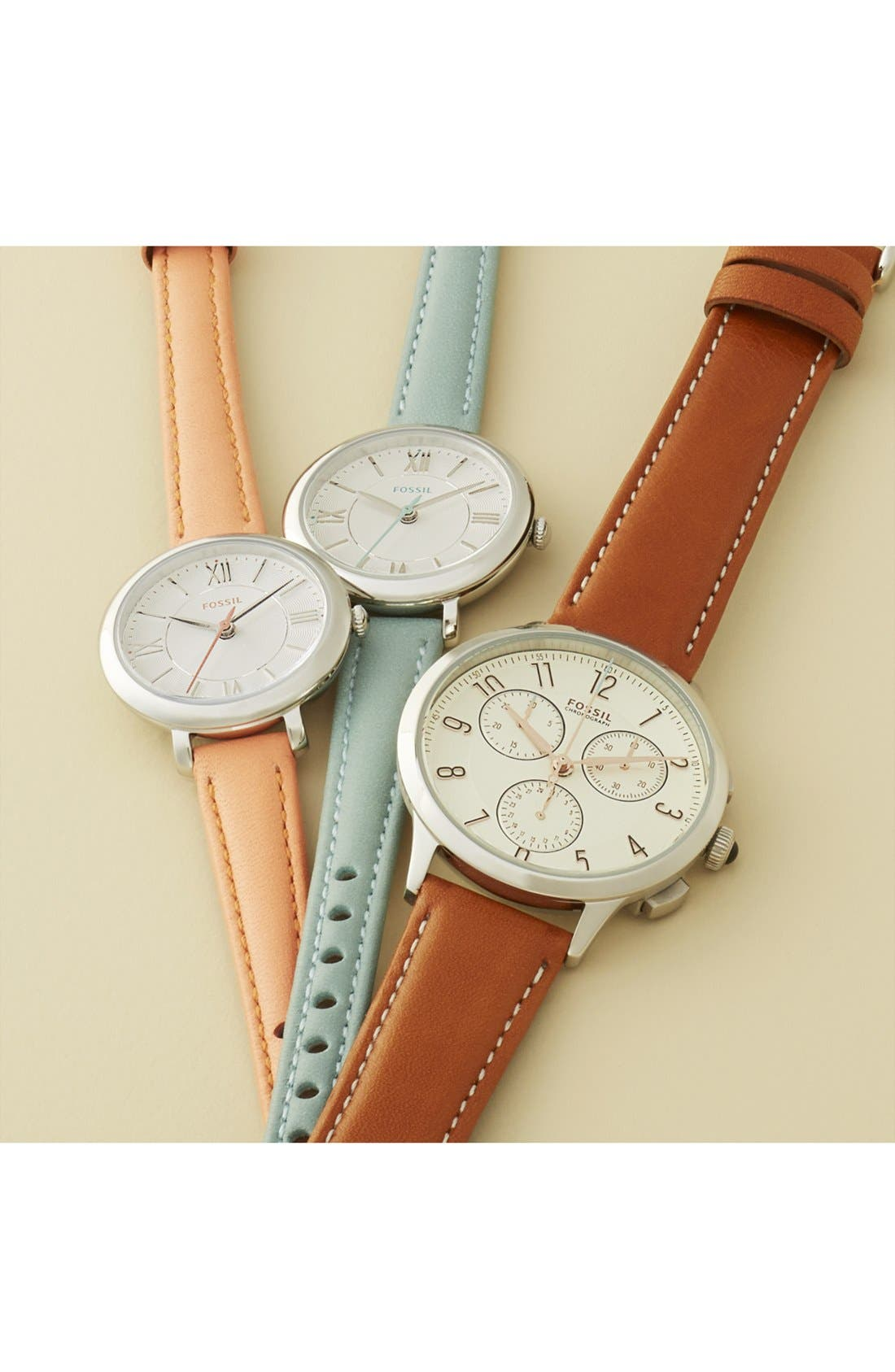 'Abilene' Chronograph Leather Strap Watch, 34mm,                             Alternate thumbnail 4, color,