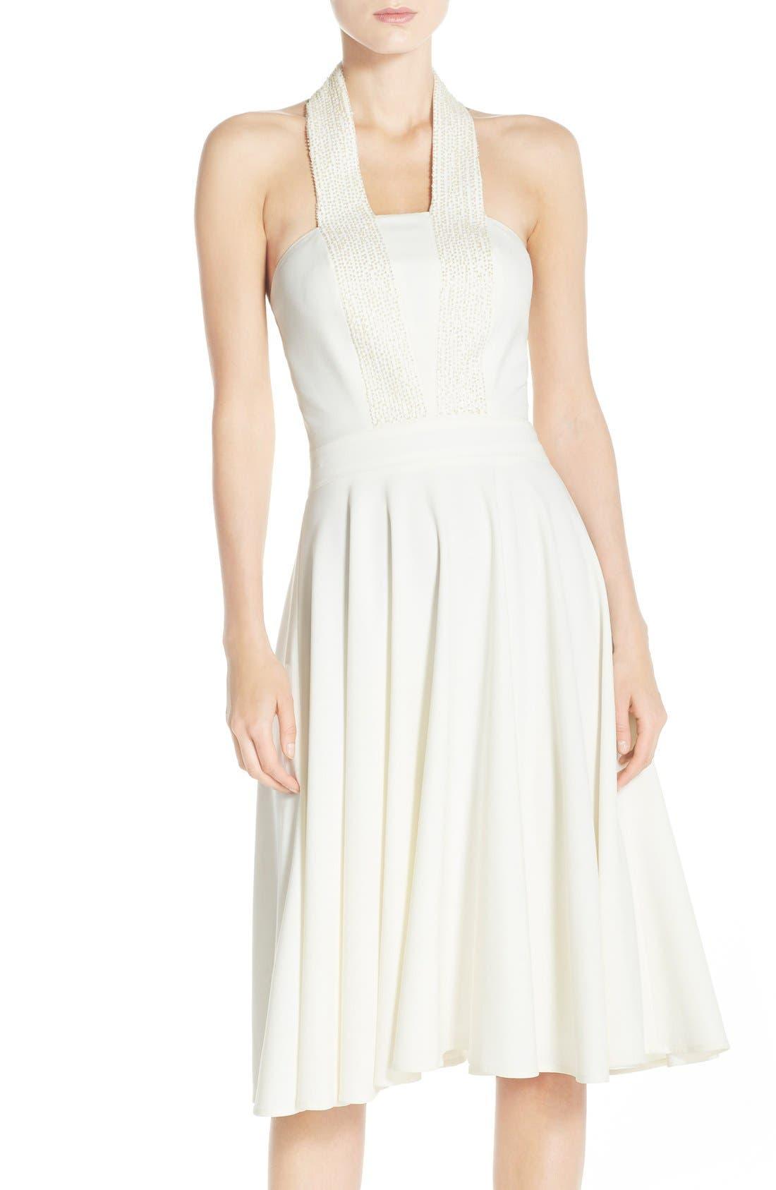 Main Image - Halston Heritage Embellished Halter Dress