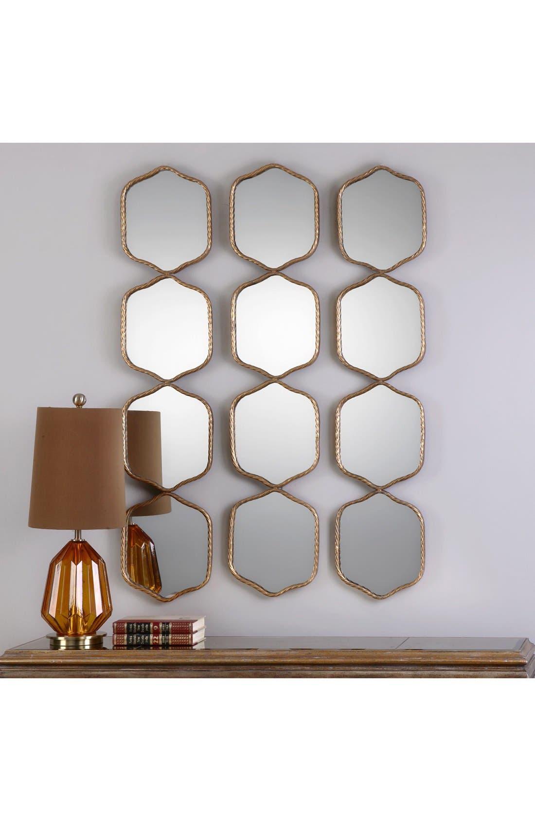 'Myriam' Wall Mirror,                             Alternate thumbnail 2, color,                             Metallic Gold