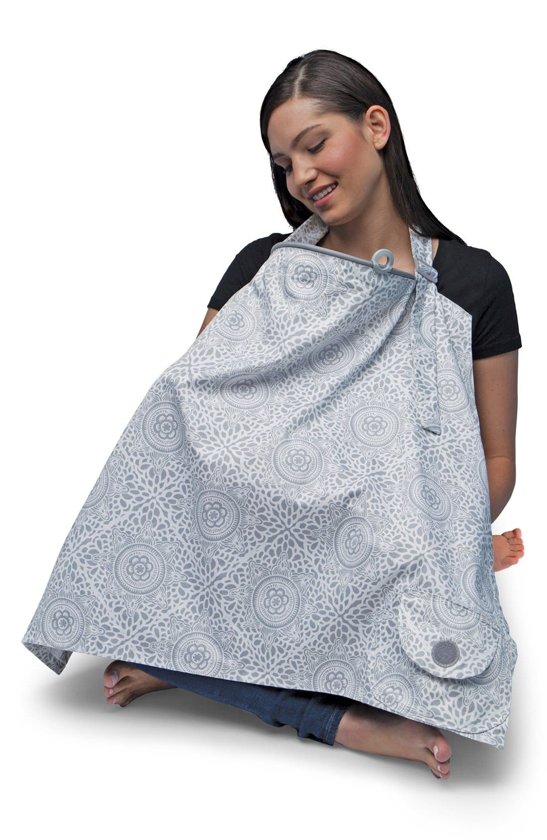 Nursing Cover,                             Main thumbnail 1, color,                             Boho Grey