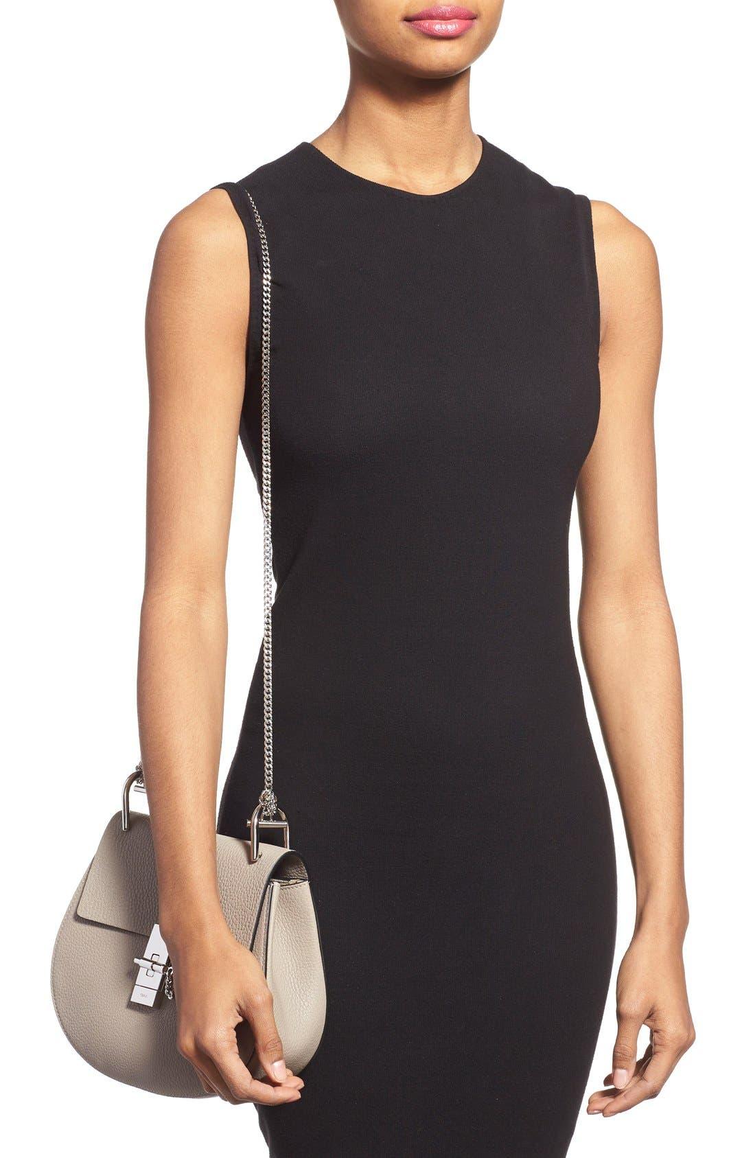 'Small Drew' Leather Shoulder Bag,                             Alternate thumbnail 2, color,                             Motty Grey