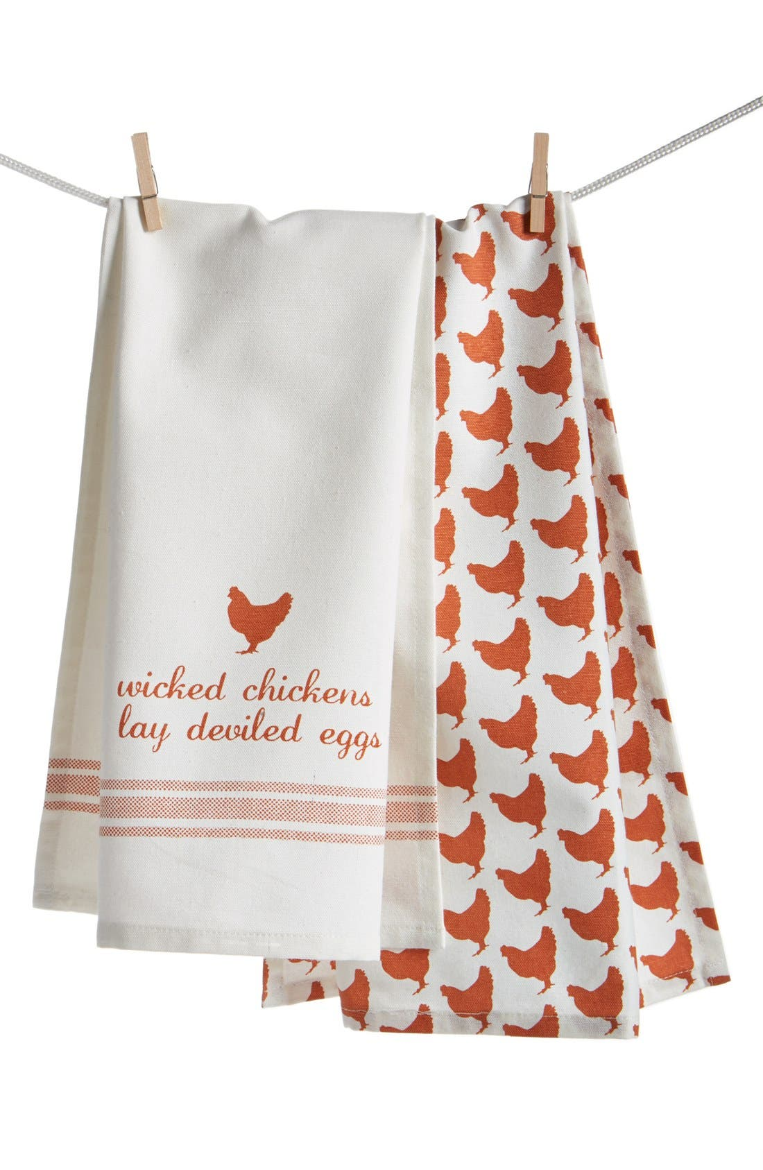 Alternate Image 1 Selected - Levtex 'Wicked Chickens Lay Deviled Eggs' Dish Towels (Set of 2)
