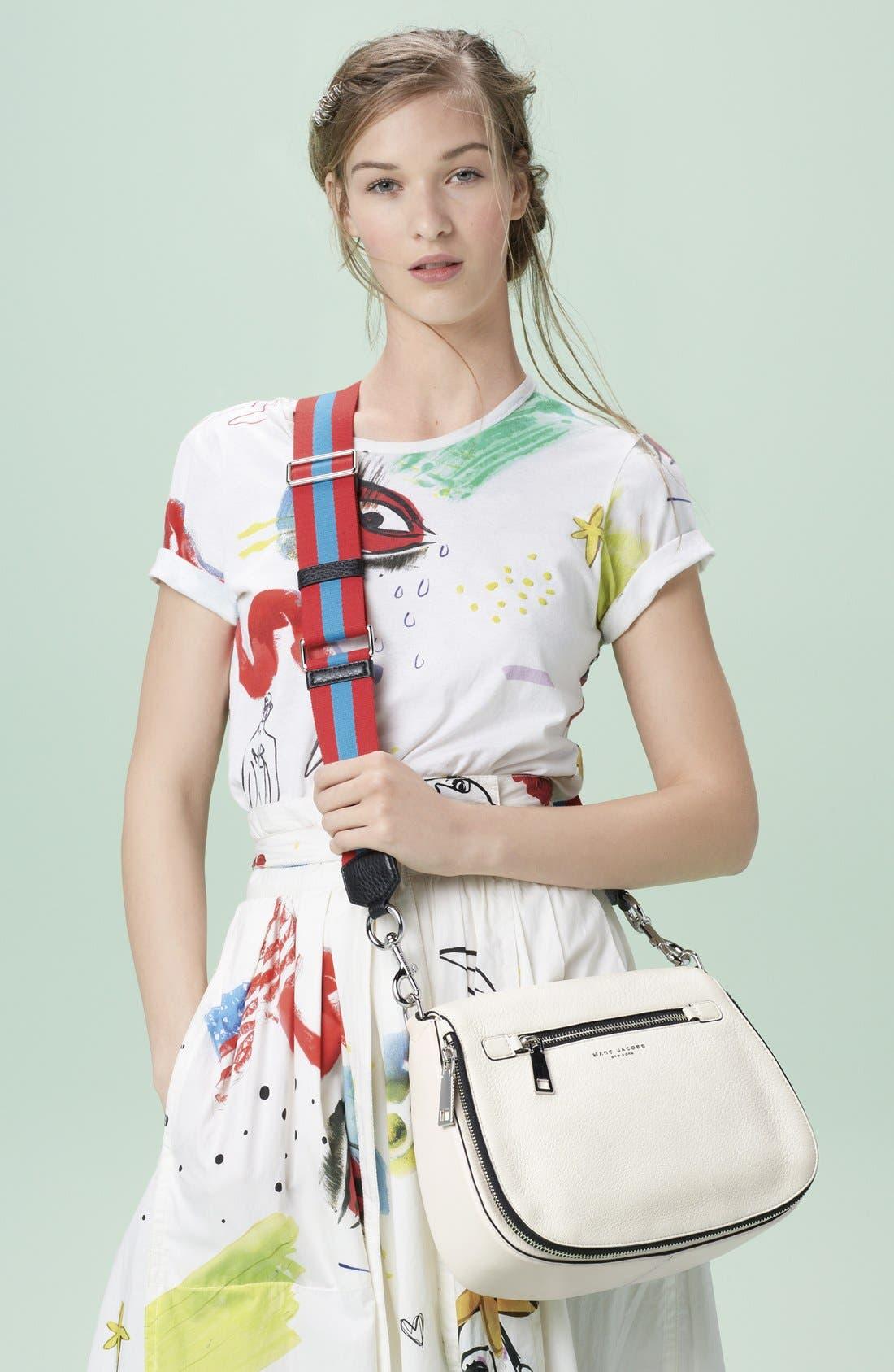 Collage Print Wrap Midi Skirt,                             Alternate thumbnail 7, color,