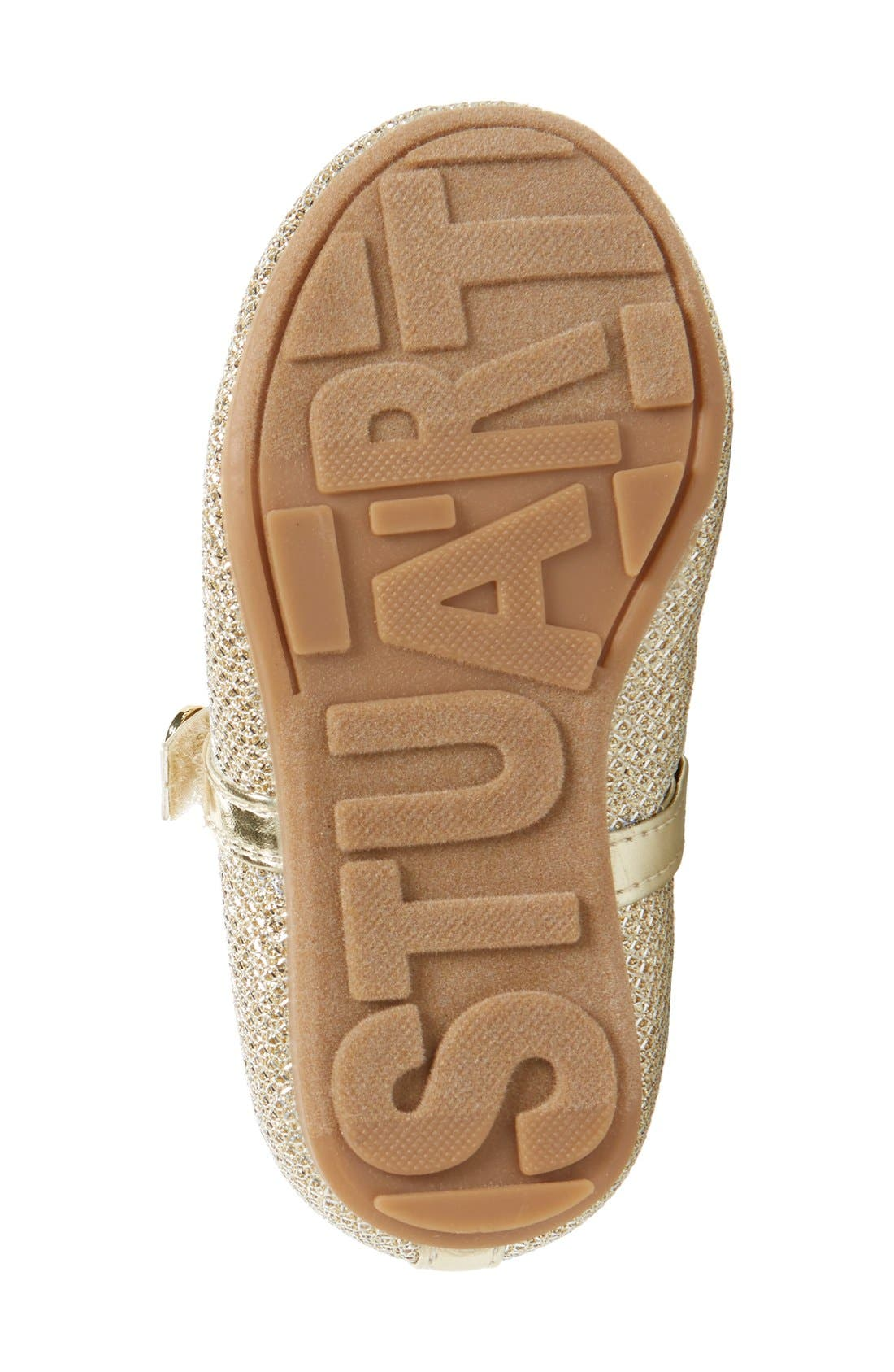 Alternate Image 4  - Stuart Weitzman 'Fannie' Glitter Mesh Mary Jane (Walker & Toddler)