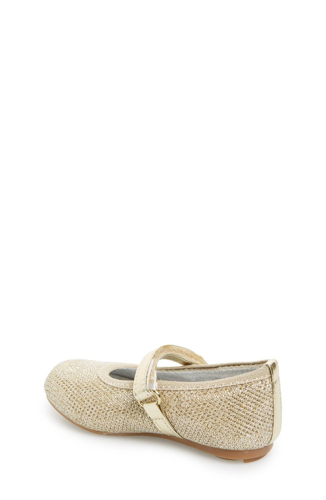 Alternate Image 2  - Stuart Weitzman 'Fannie' Glitter Mesh Mary Jane (Walker & Toddler)