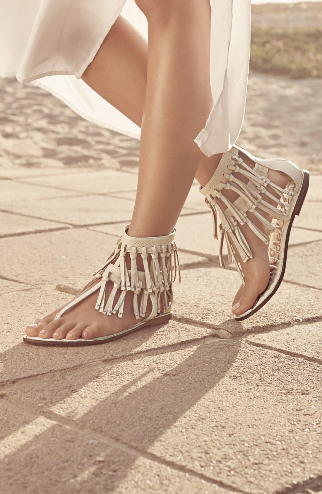 'Griffen' Fringe Sandal,                             Alternate thumbnail 5, color,