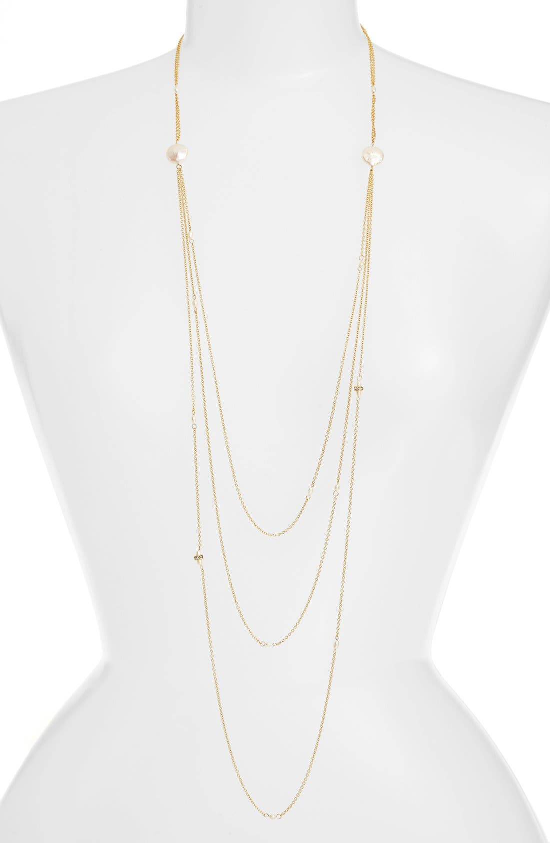 Tiered Chain Necklace,                         Main,                         color, Gold