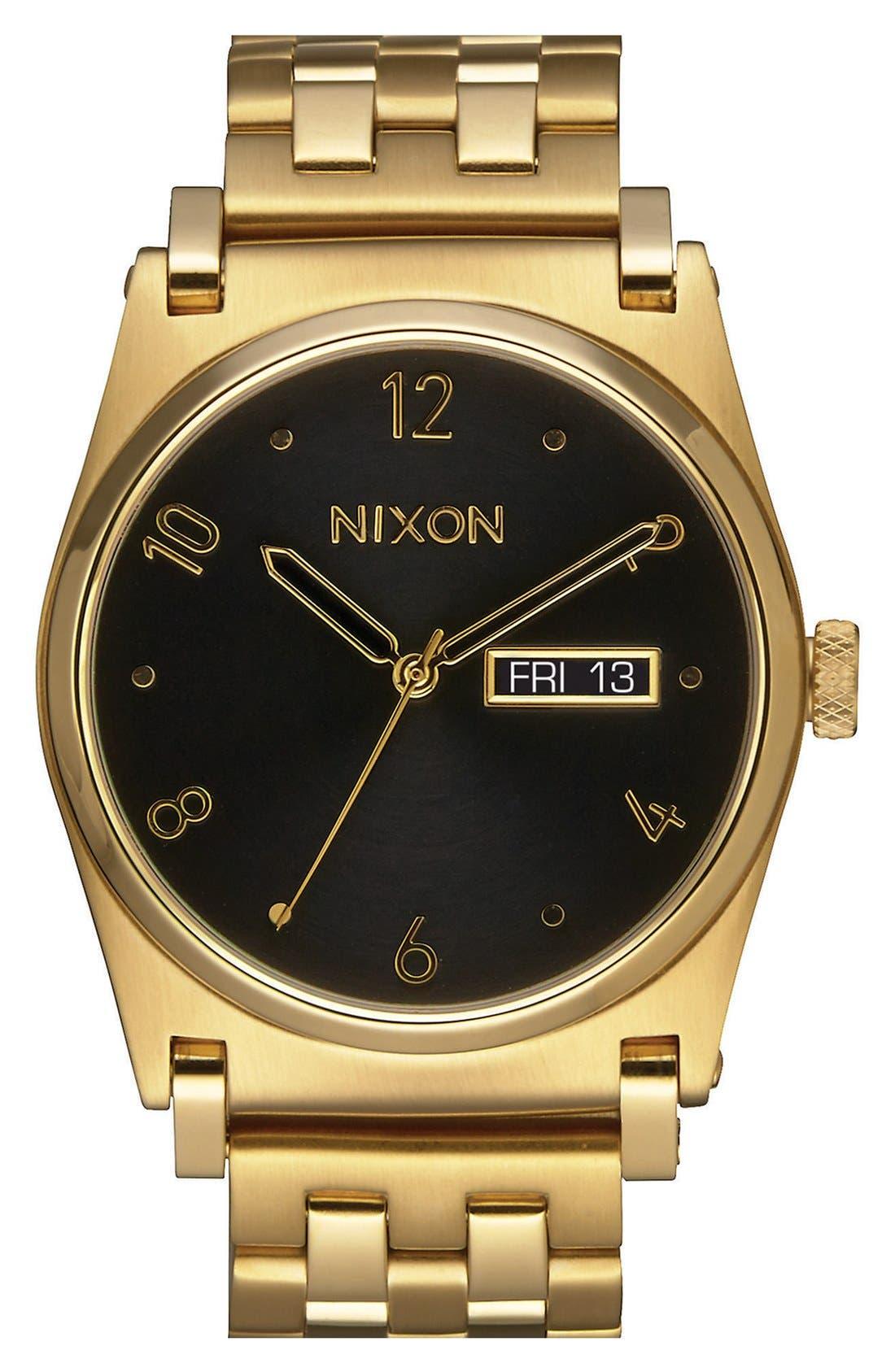 'Jane' Bracelet Watch, 35mm,                         Main,                         color, Gold/ Black