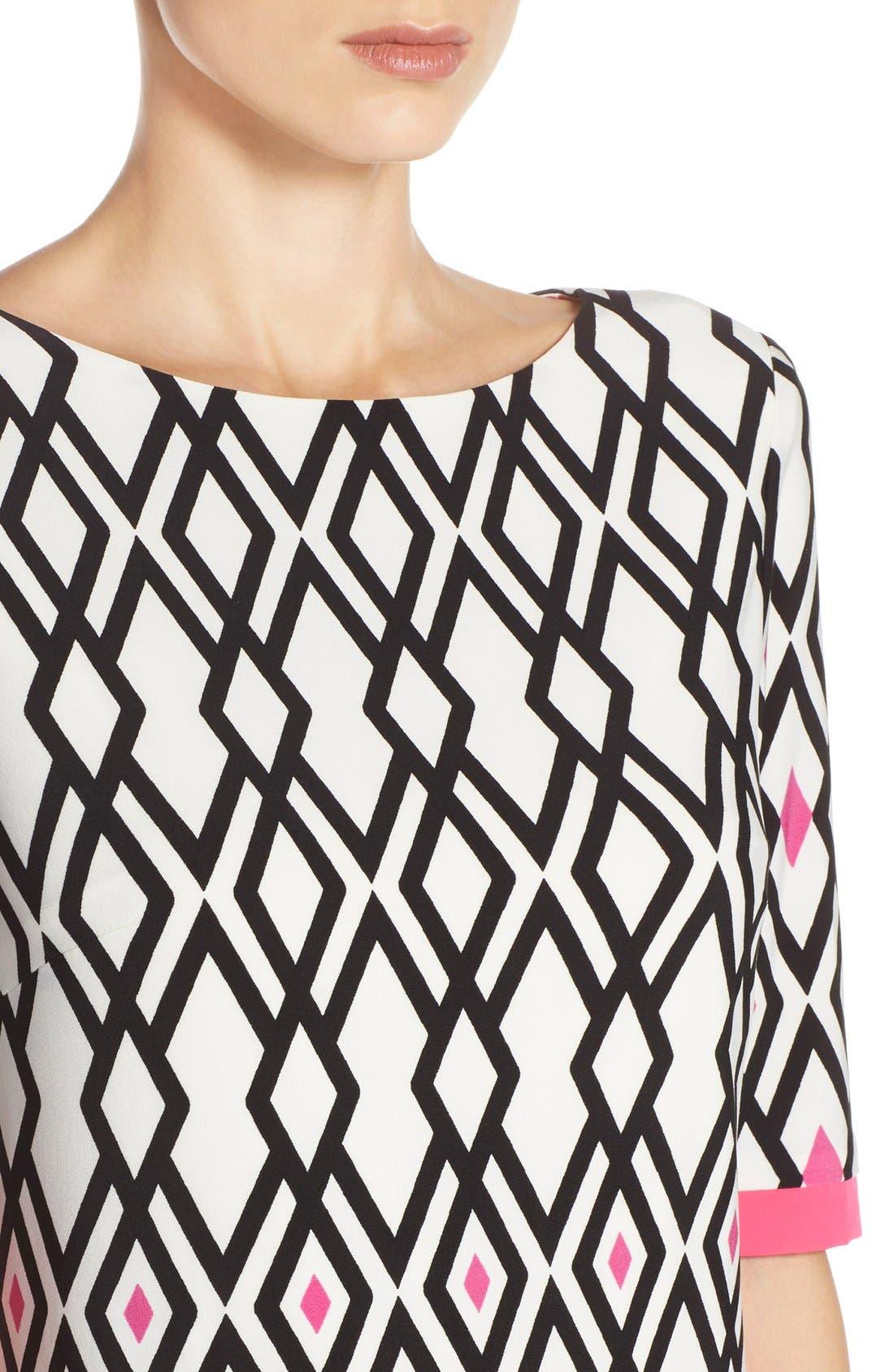 Alternate Image 5  - Eliza J Print Jersey Sheath Dress (Regular & Petite)