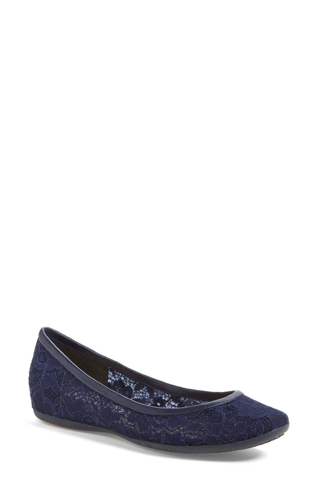 Alternate Image 1 Selected - Diane von Furstenberg 'Marano' Lace Ballet Flat (Women)