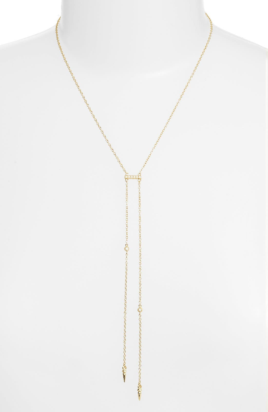 Double Hang Y-Necklace,                         Main,                         color, Gold
