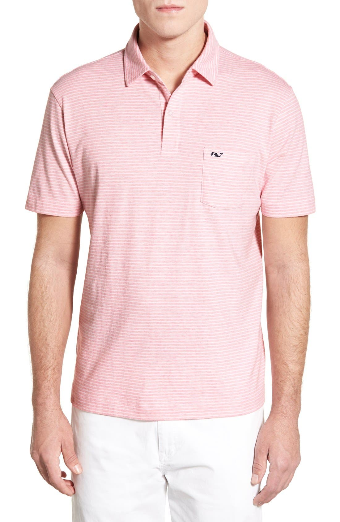 Main Image - Vineyard Vines 'Feeder Stripe' Pima Cotton Polo