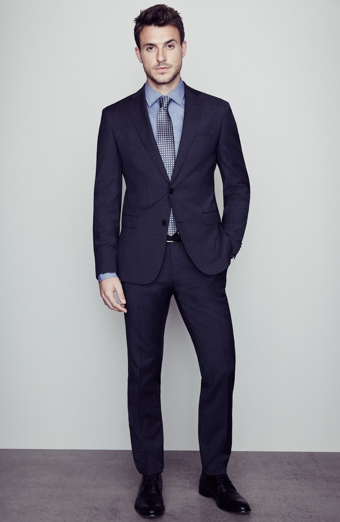 Johnstons/Lenon Classic Fit Wool Suit,                             Alternate thumbnail 8, color,                             Navy