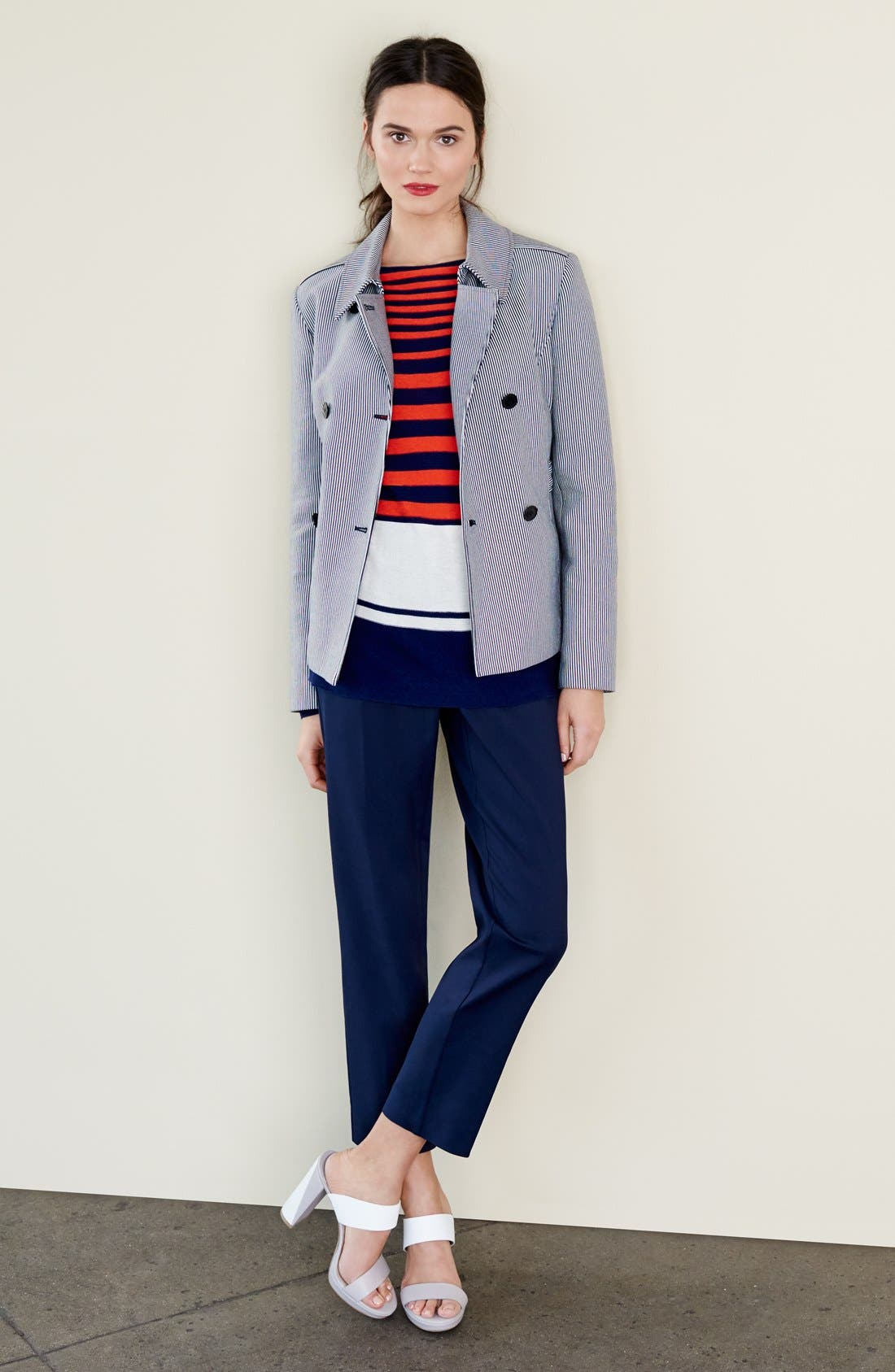 Alternate Image 3  - Nordstrom Collection 'Veloria' Slim Ankle Pants