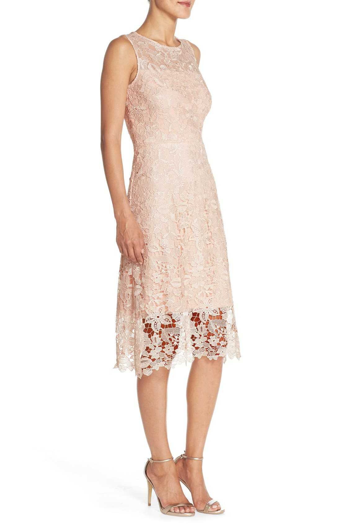 Alternate Image 3  - Julia Jordan Floral Lace A-Line Dress