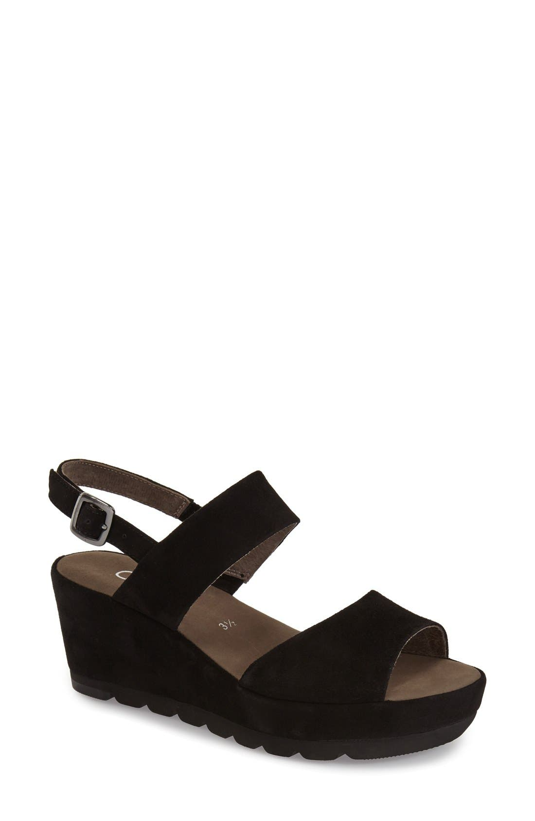 Alternate Image 1 Selected - Gabor Two-Strap Sandal (Women)