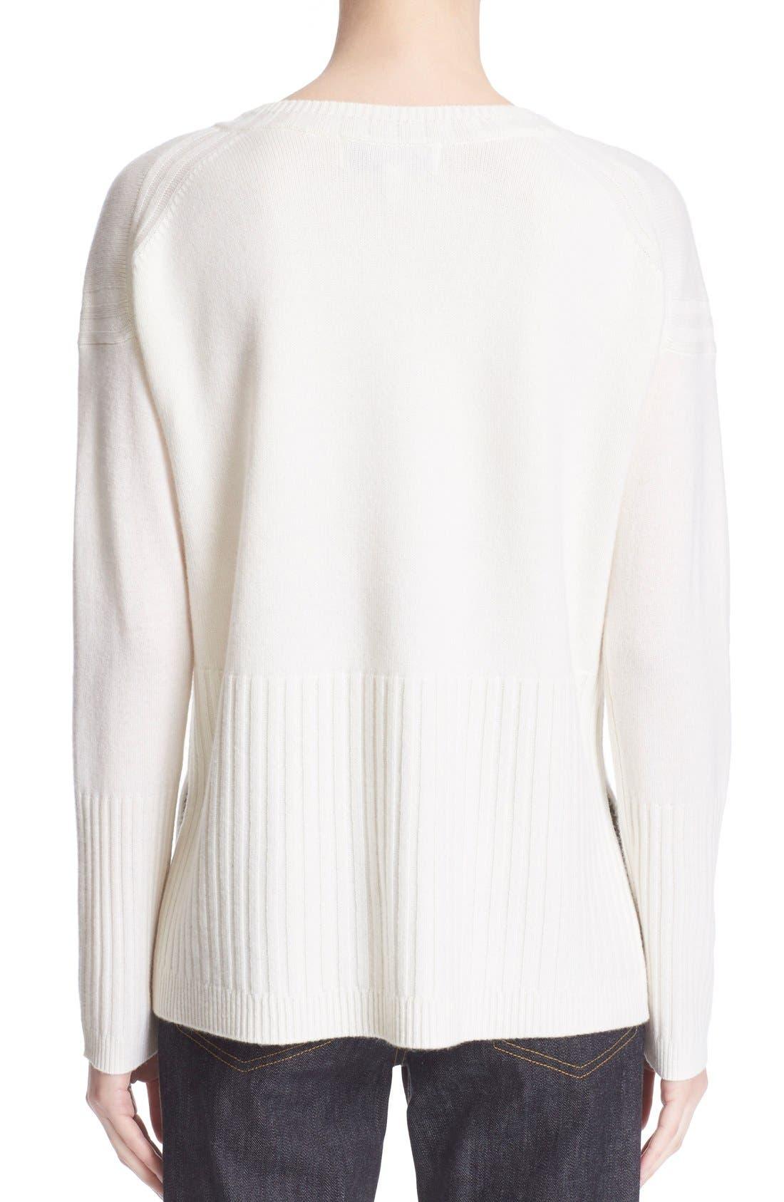 Alternate Image 2  - Derek Lam 10 Crosby V-Neck Cashmere Sweater