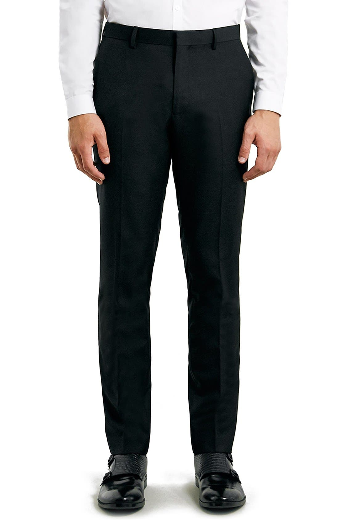 Topman Skinny Fit Black Suit Trousers