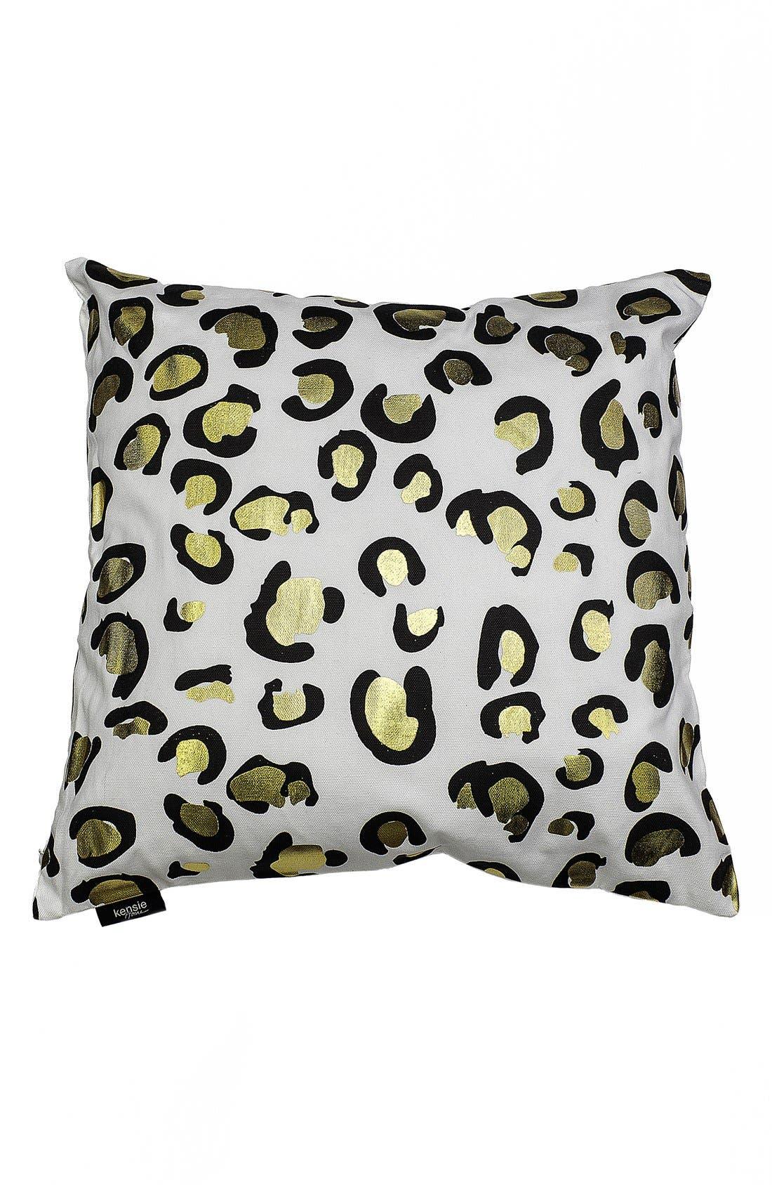 kensie Metallic Animal Print Pillow