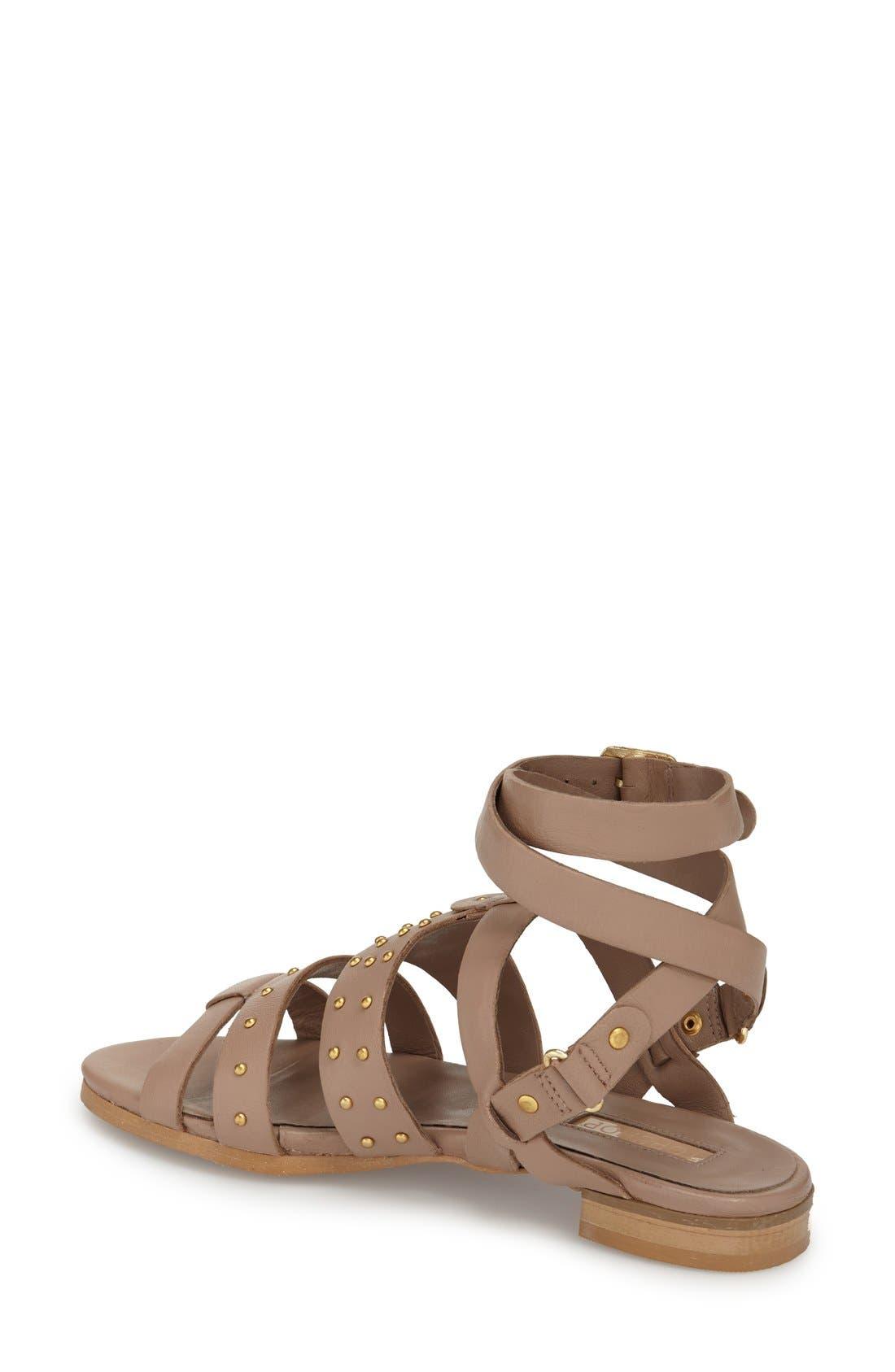 Alternate Image 2  - Topshop 'Flame' Stud Wraparound Ankle Strap Sandal (Women)