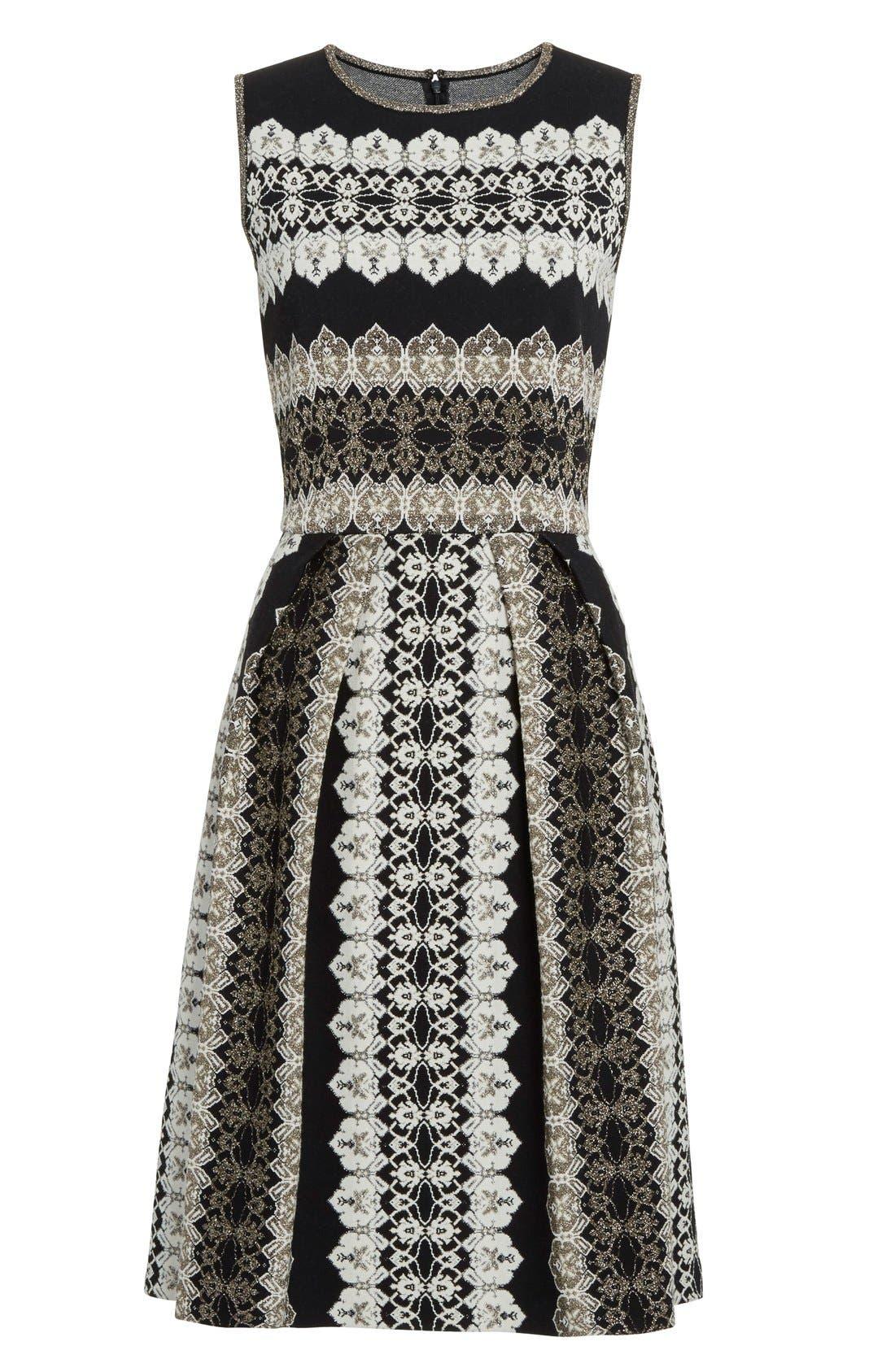 Alternate Image 4  - St. John Collection Jeweled Shimmer Knit Dress
