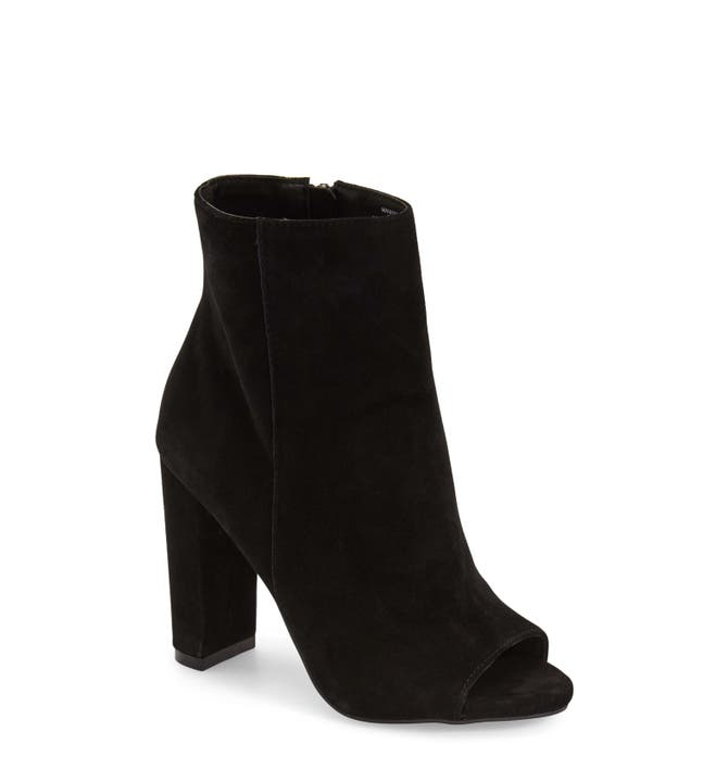 Image result for steve madden black peep toe booties