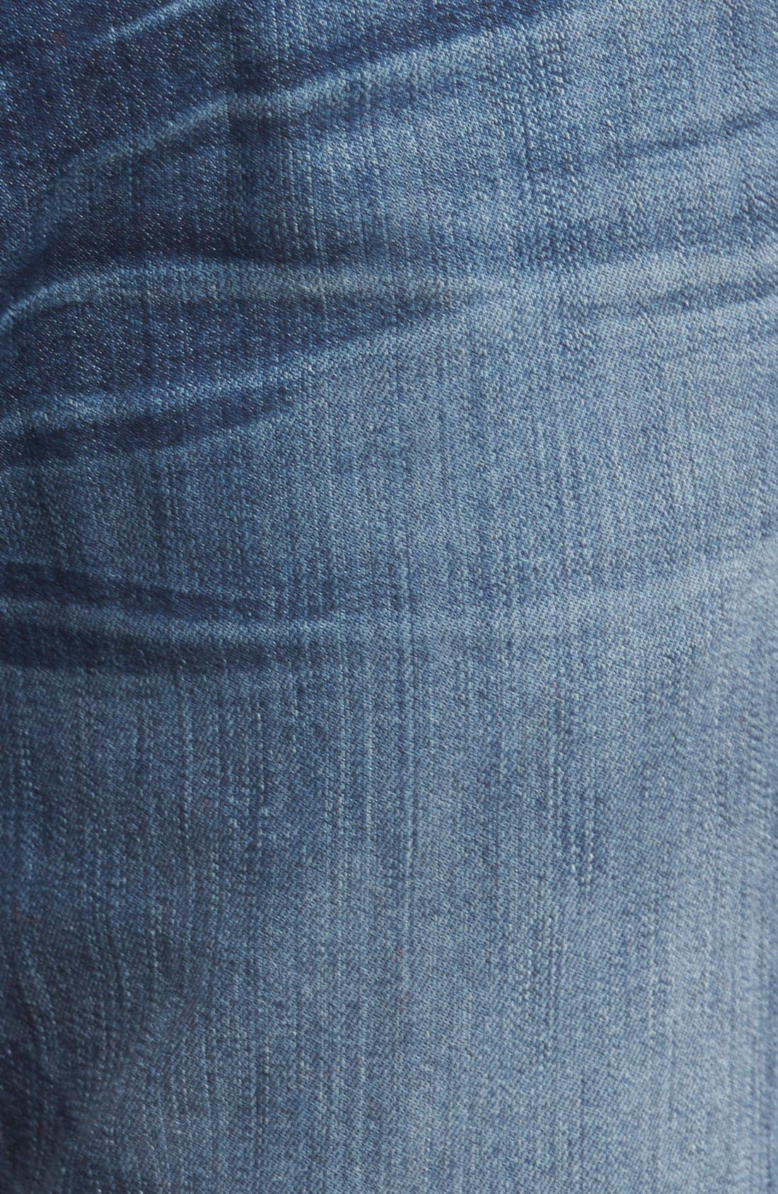 'Slimmy - Luxe Performance' Slim Fit Jeans,                             Alternate thumbnail 5, color,                             Air Weft Commotion