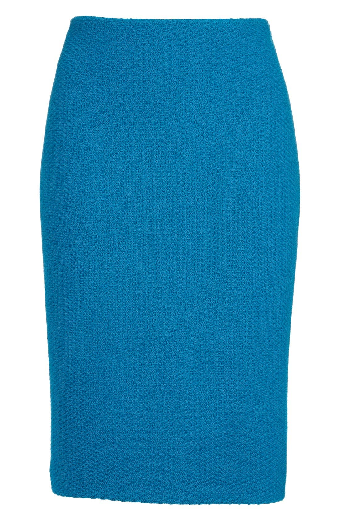 Alternate Image 4  - St. John Collection Textural Twill Pencil Skirt