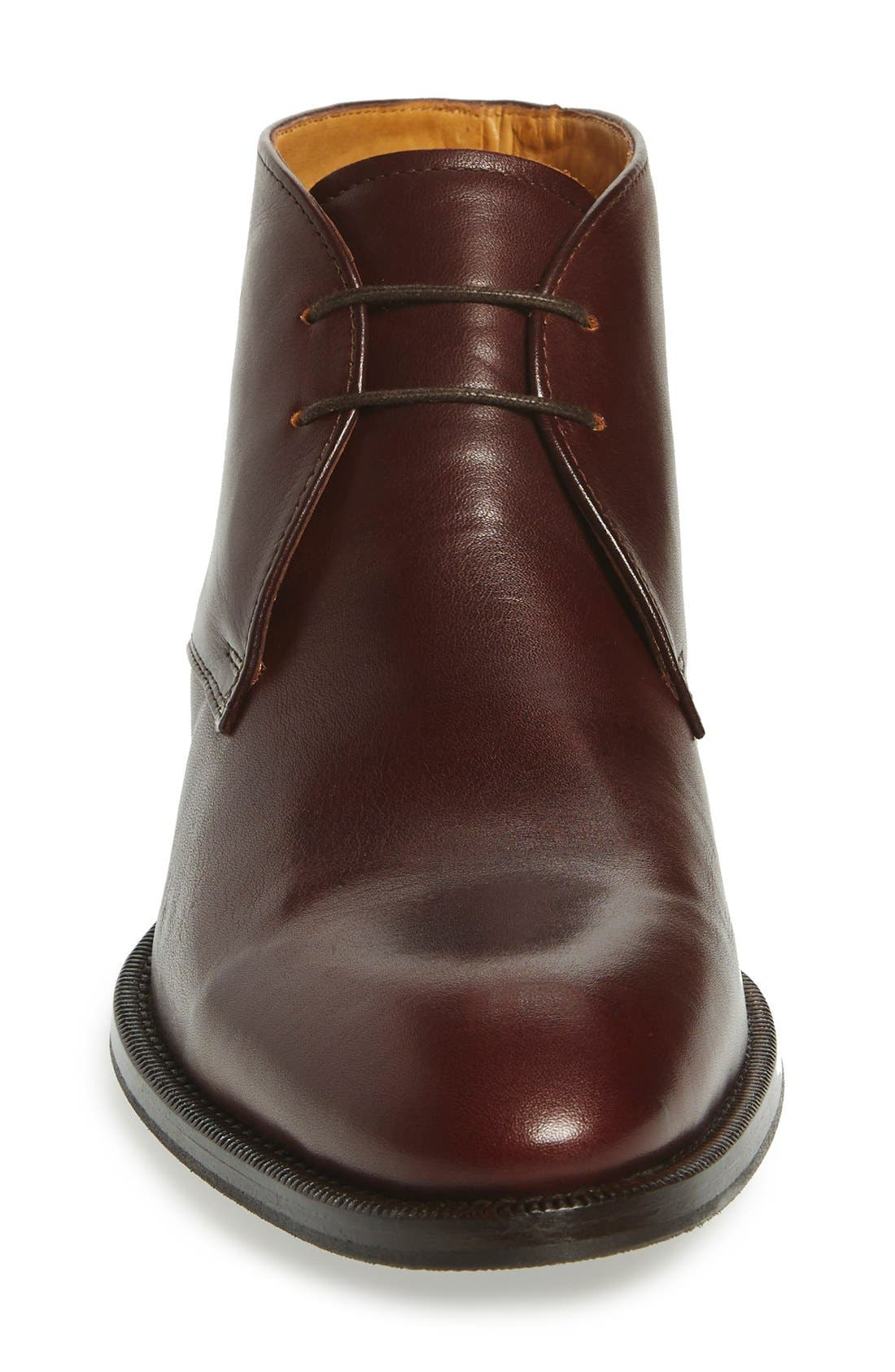 'Branx' Chukka Boot,                             Alternate thumbnail 3, color,                             Dark Brown Leather