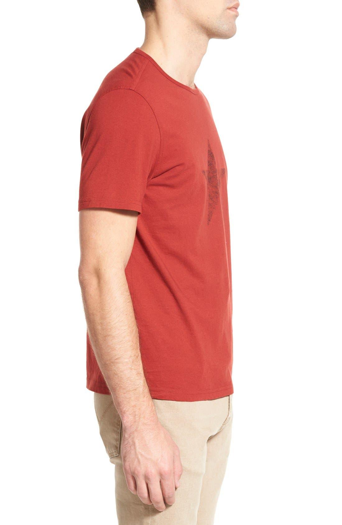 Alternate Image 3  - John Varvatos Star USA 'Faded Star' Graphic Crewneck T-Shirt