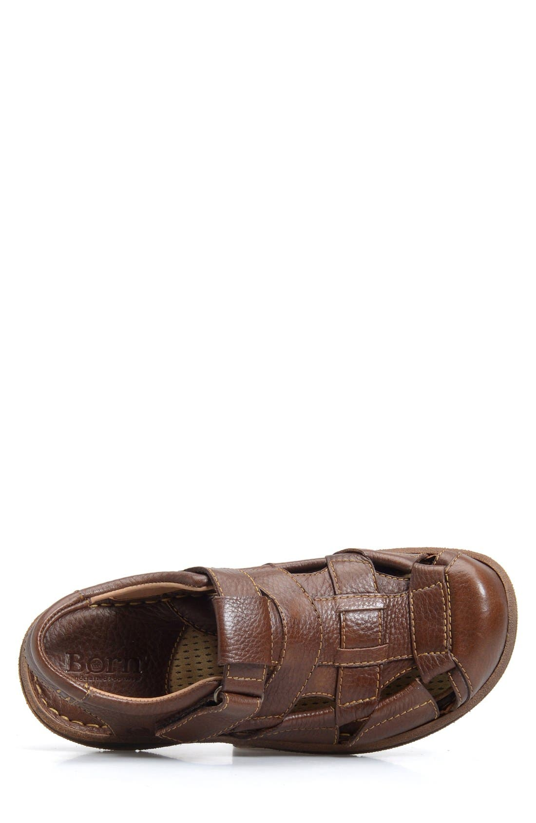 'Cabot II' Sandal,                             Alternate thumbnail 3, color,                             Brown Leather