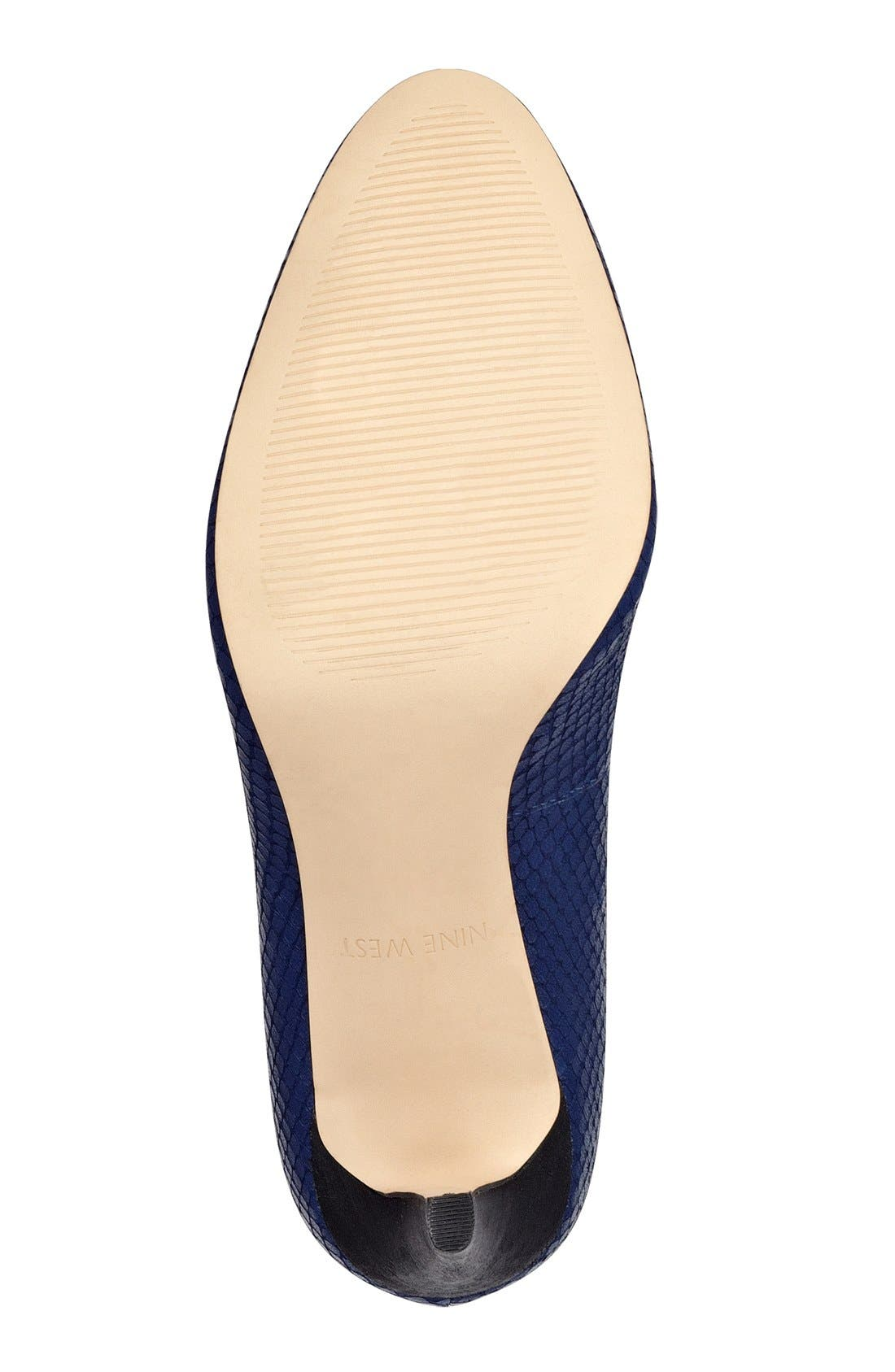 Alternate Image 2  - Nine West 'Handjive' Almond Toe Pump (Women)