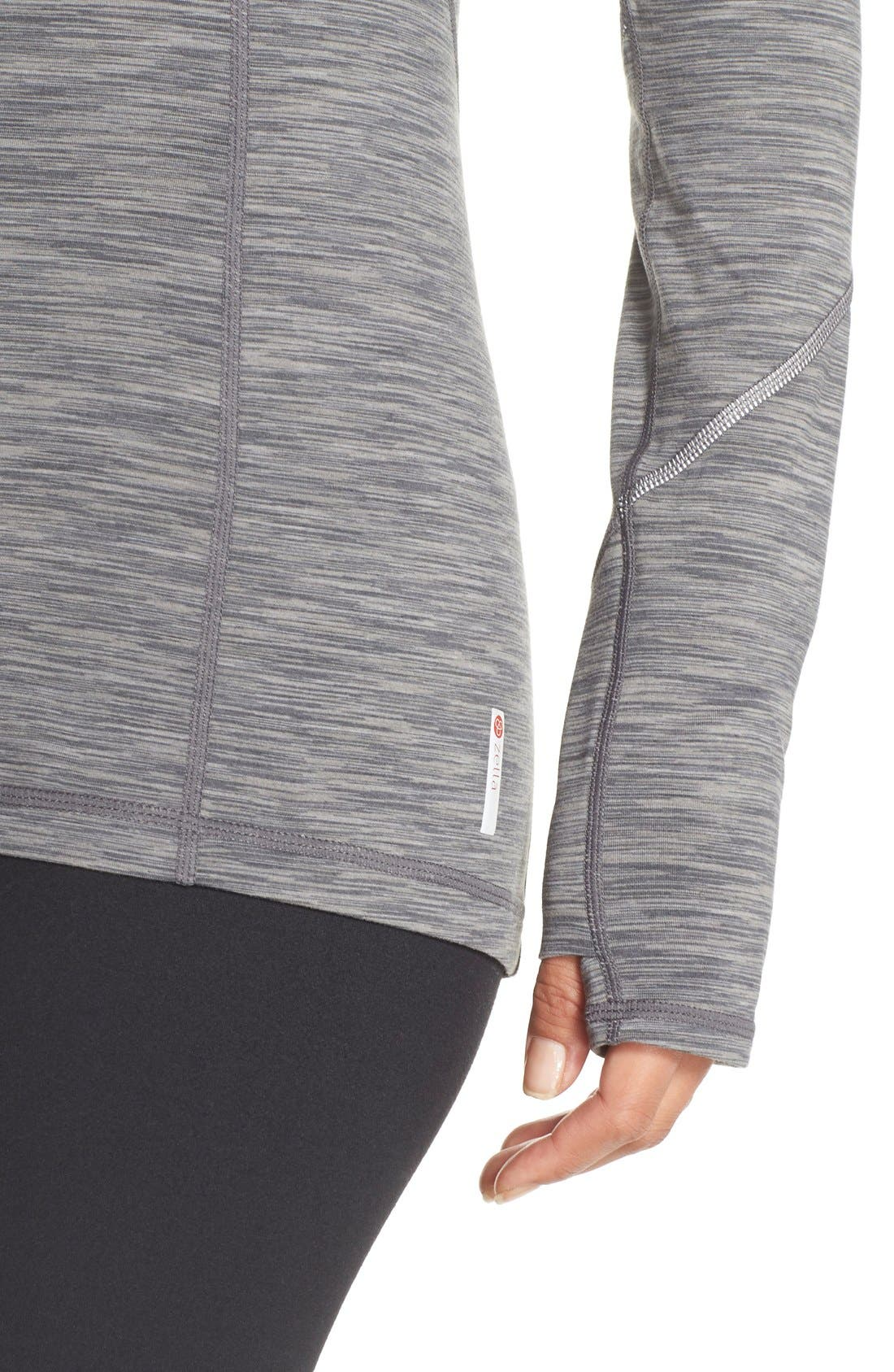 Alternate Image 4  - Zella 'Revelation' Half Zip Top