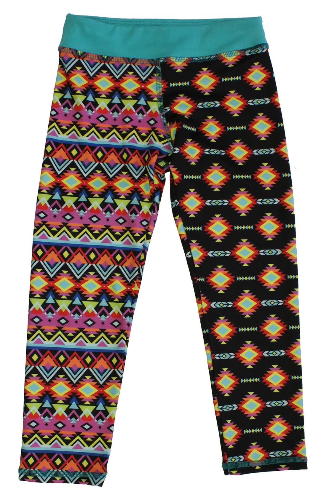 CHOOZE 'Cropped' Mixed Print Leggings (Little Girls & Big Girls)