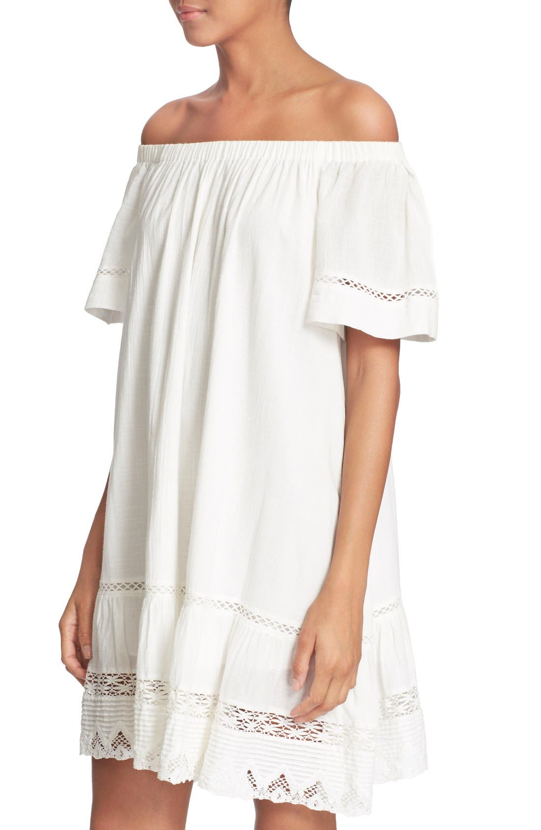 Alternate Image 4  - Rebecca Taylor Off the Shoulder Cotton Dress