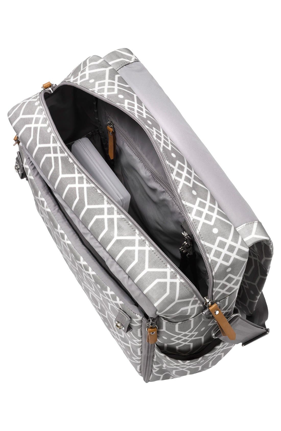 'Boxy Glazed' Diaper Bag,                             Alternate thumbnail 3, color,                             Quartz