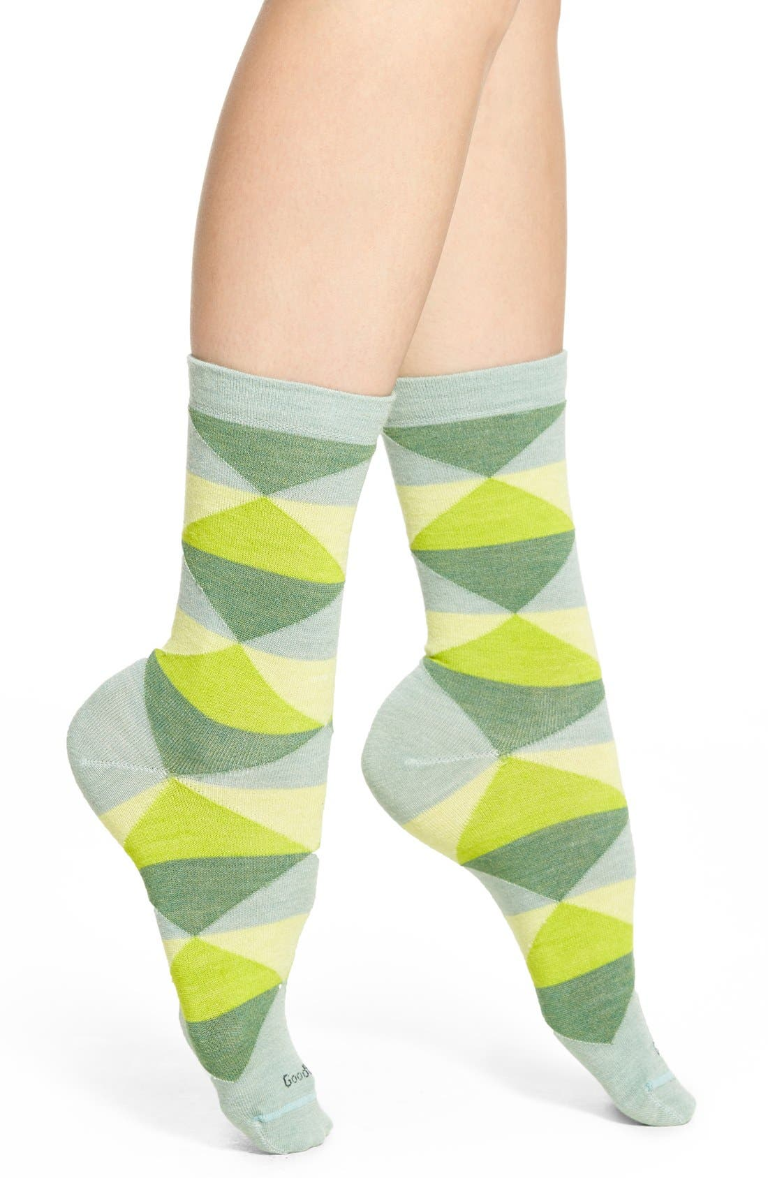 Alternate Image 1 Selected - Goodhew 'Faceted' Crew Socks