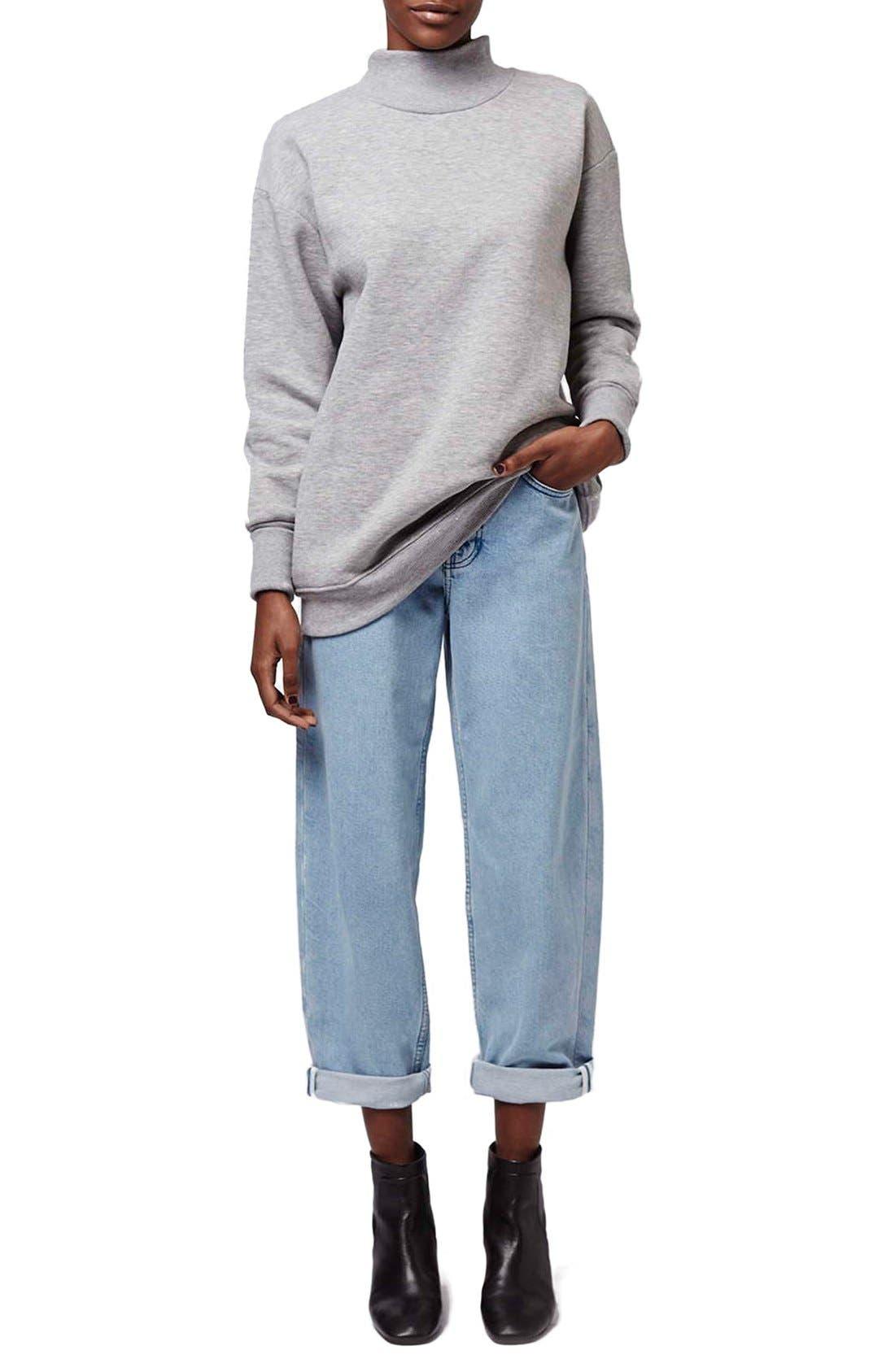 Alternate Image 2  - Topshop Boutique Wide Leg Jeans