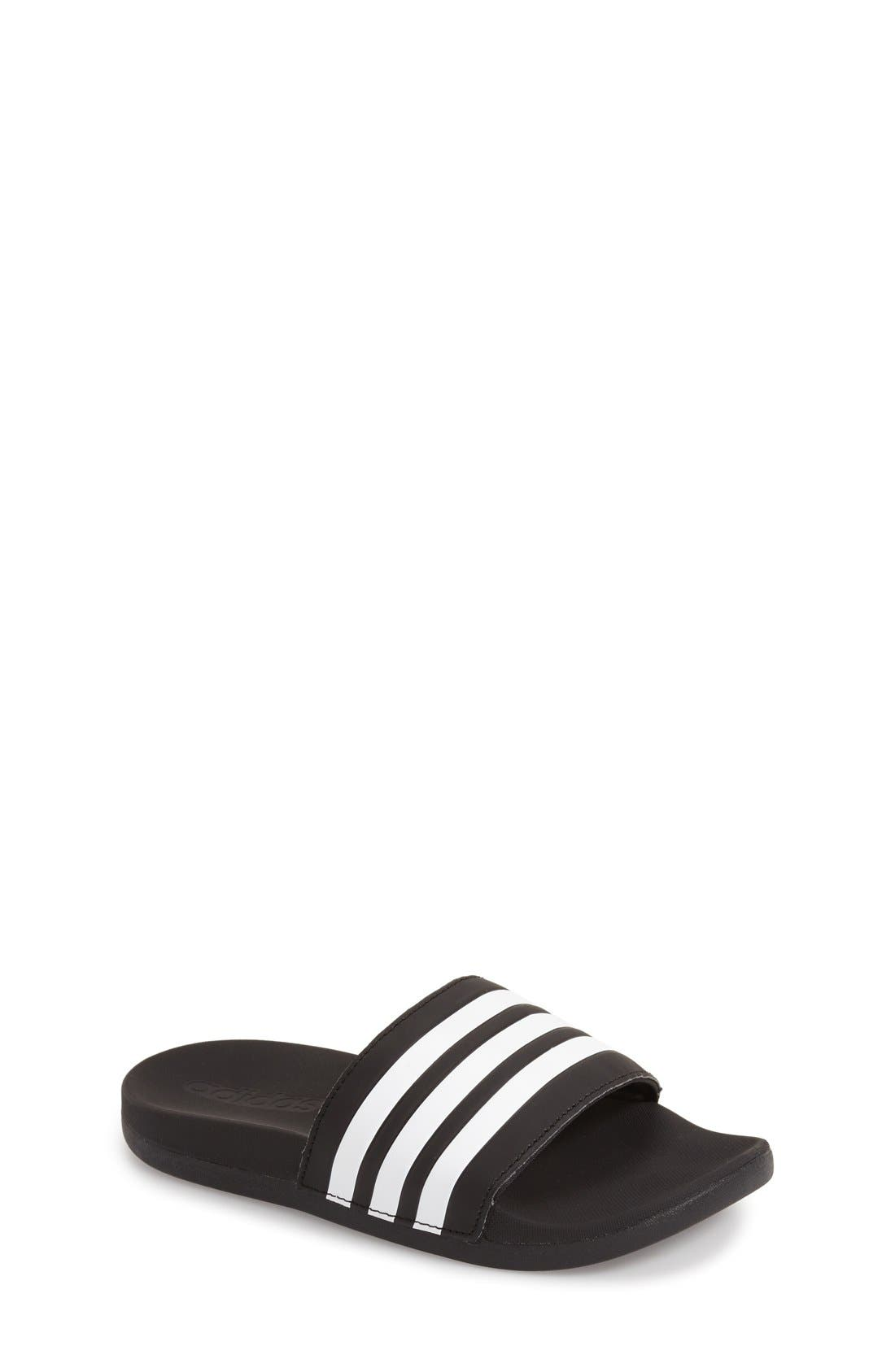 adidas 'Adilette Plus' Sandal (Toddler, Little Kid & Big Kid)