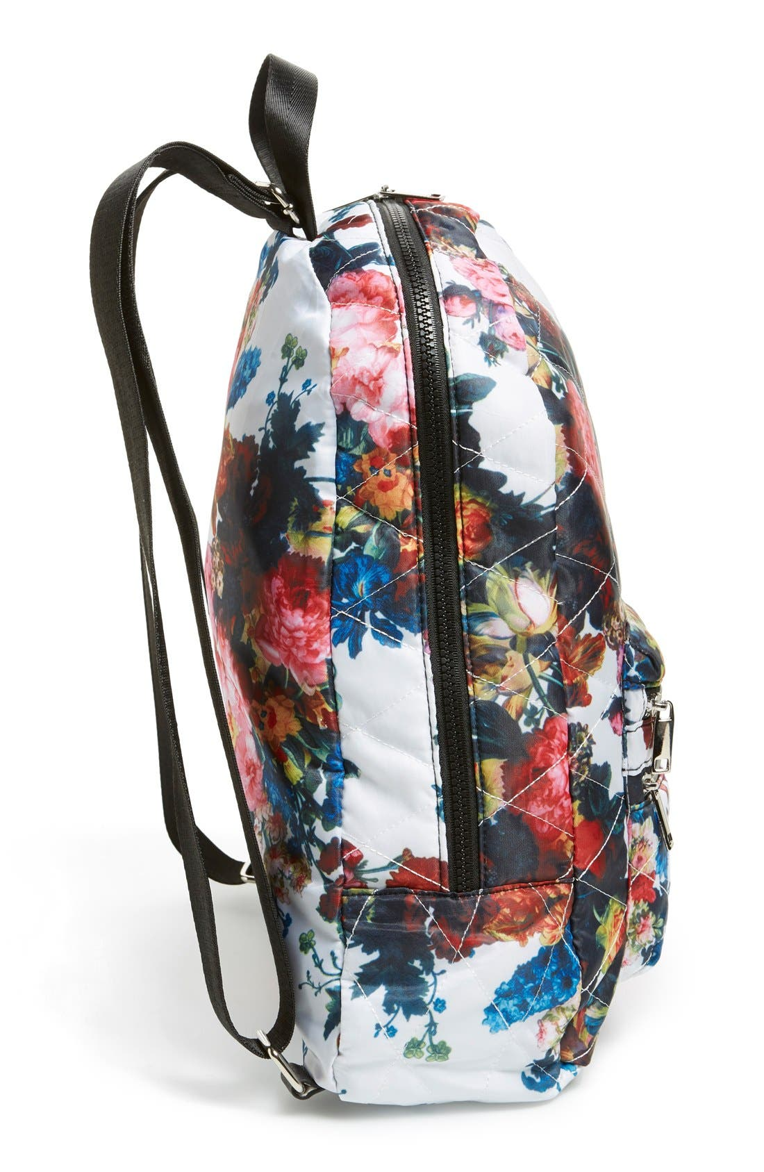 Alternate Image 5  - Dolce Girl 'Dome' Floral Print Quilted Backpack