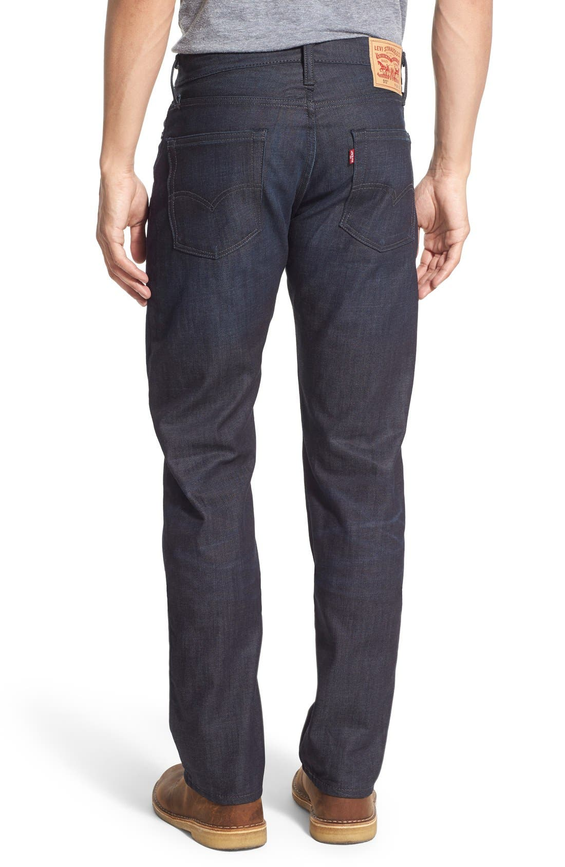 Alternate Image 2  - Levi's® 513™ Slim Straight Leg Jeans (Scraper Dark)