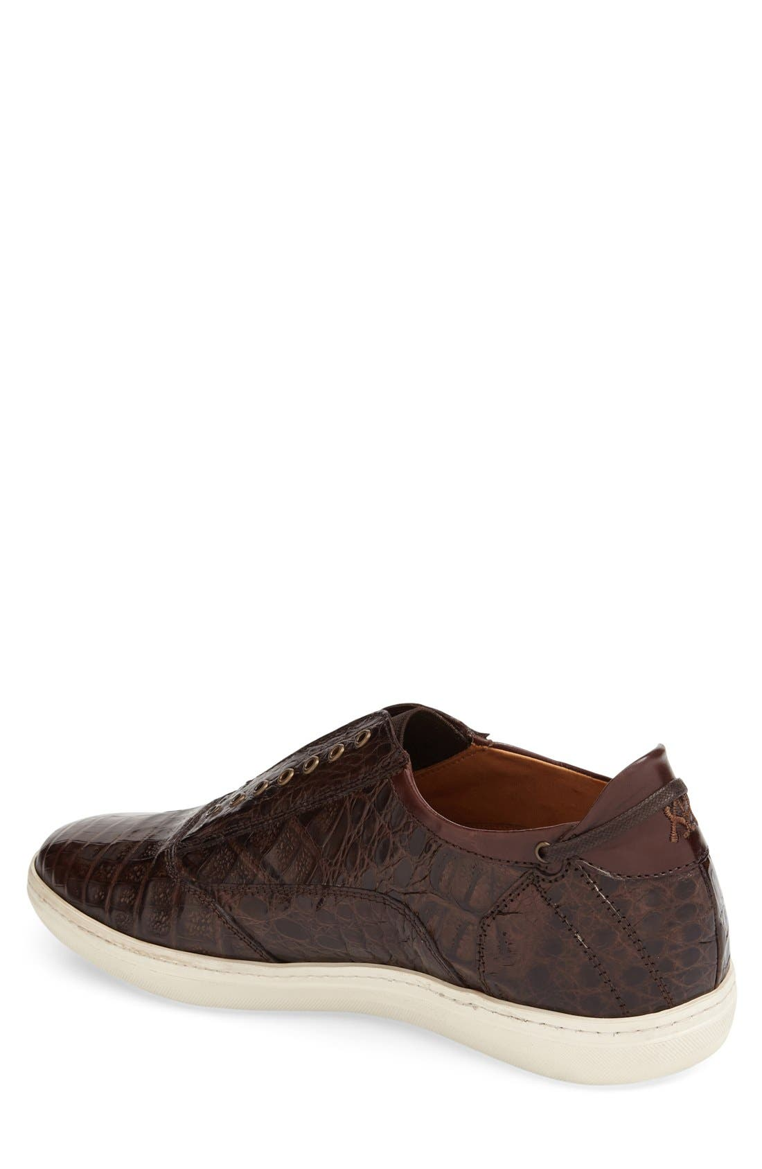 'Emmanuel' Slip-on Sneaker,                             Alternate thumbnail 2, color,                             Brown Crocodile
